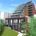 Exterior rendering at 511 Kingston Road Condos
