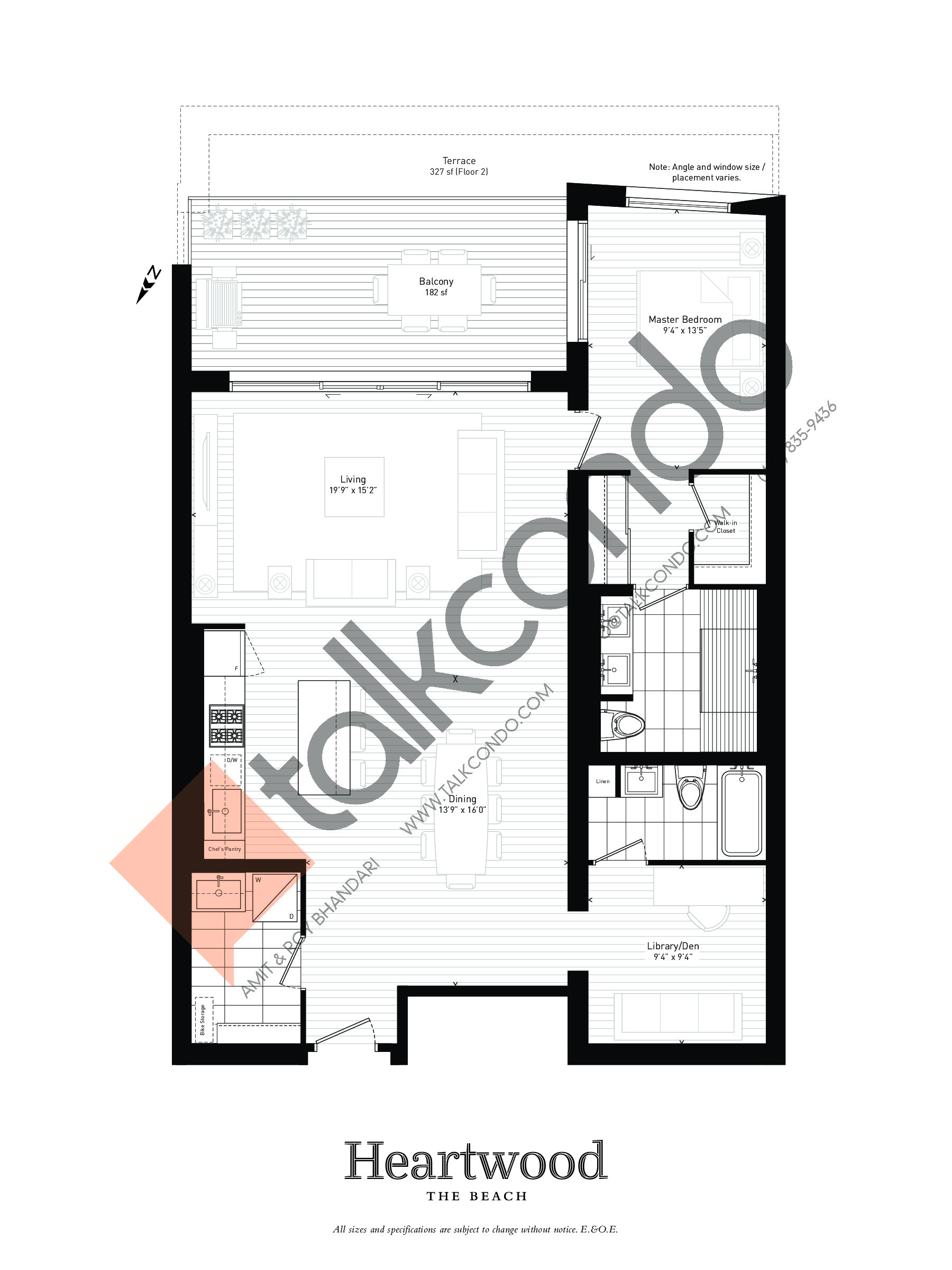 02 Floor Plan at Heartwood the Beach Condos - 1219 sq.ft