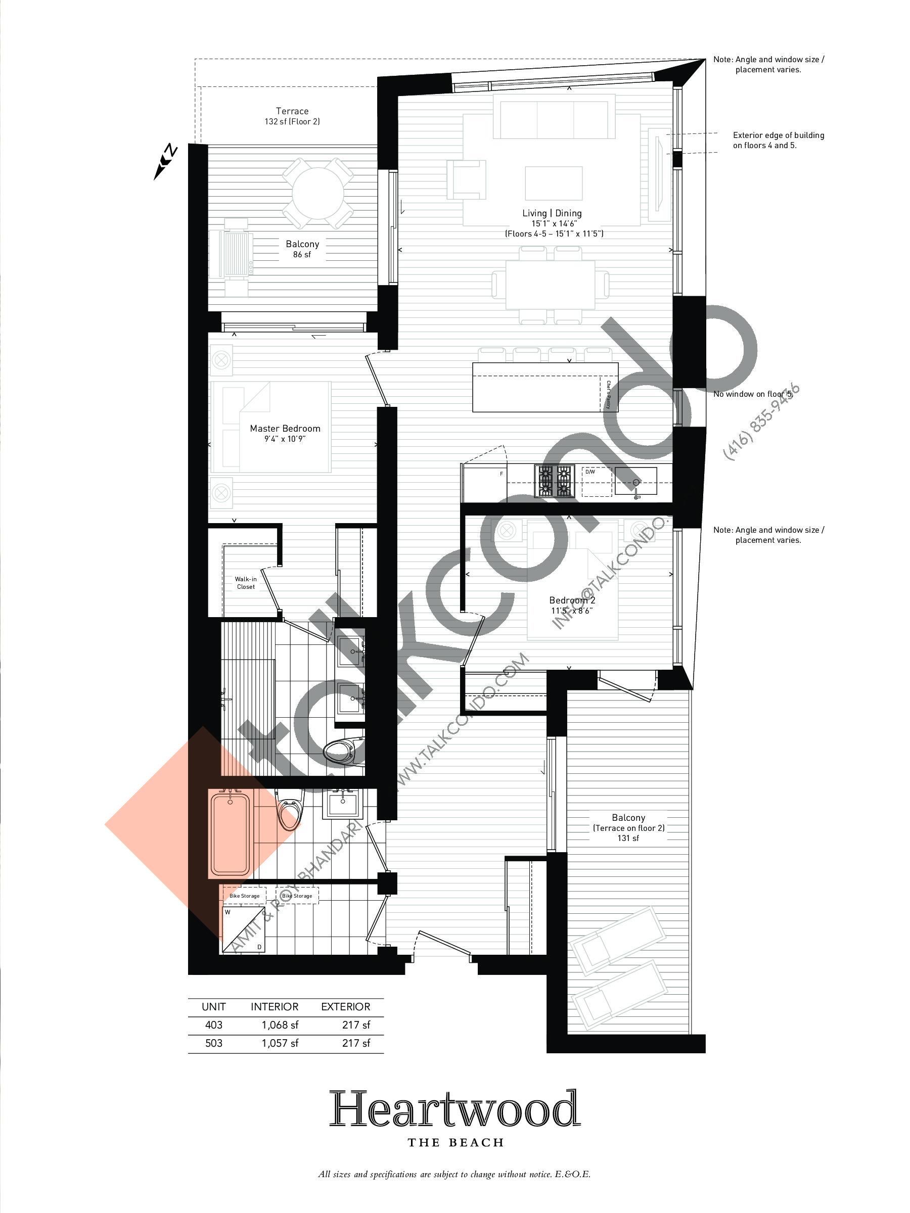 03 Floor Plan at Heartwood the Beach Condos - 1133 sq.ft