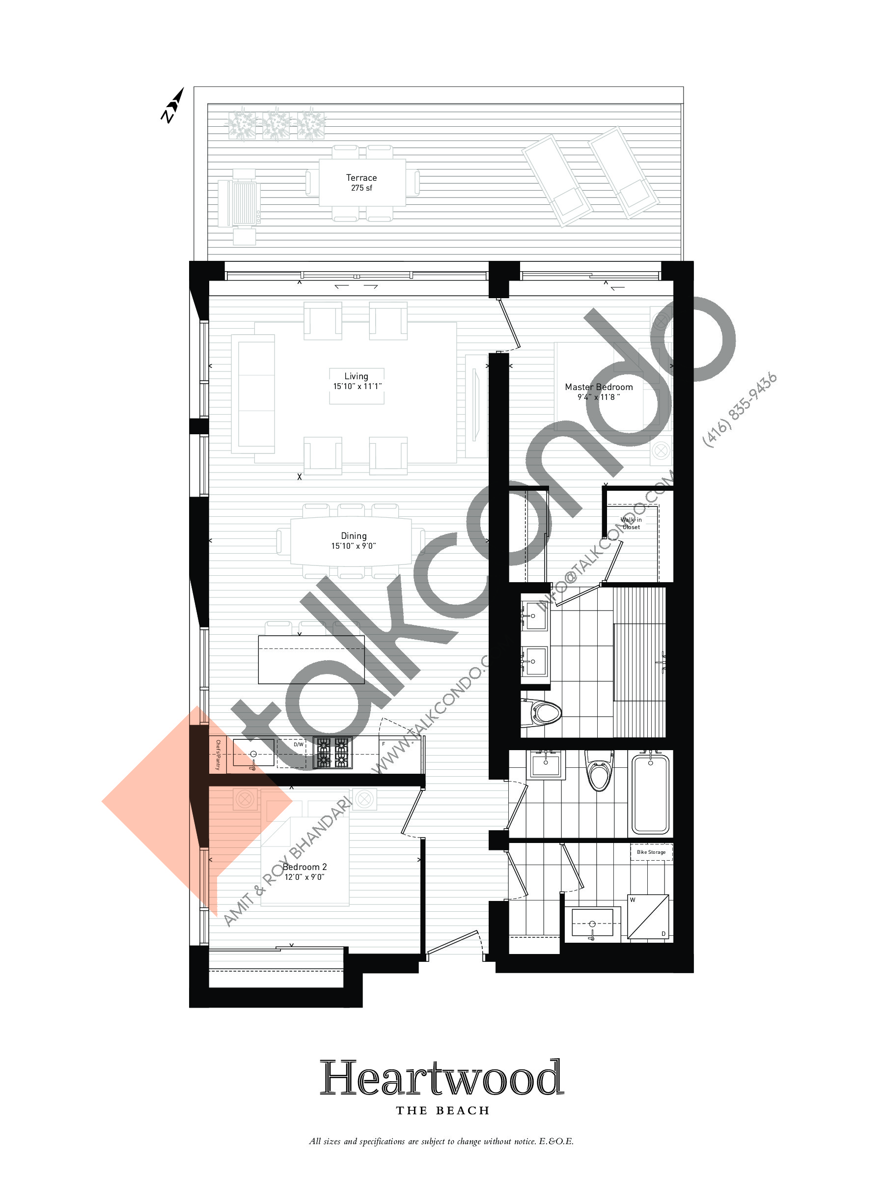 204 Floor Plan at Heartwood the Beach Condos - 1161 sq.ft