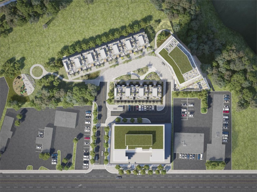 Kingsway by the River Aerial Siteplan