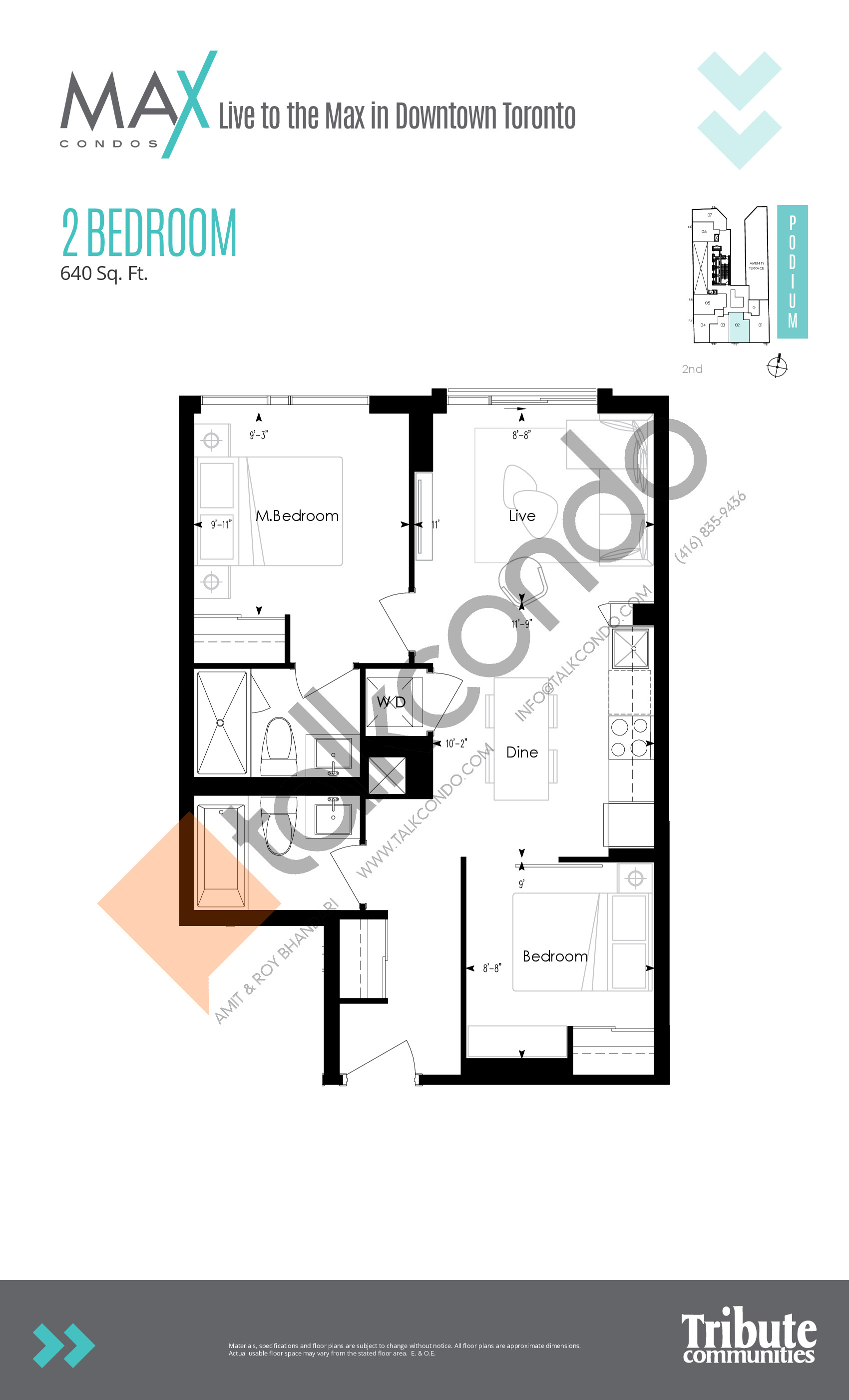Suite 02 Floor Plan at Max Condos - 545 sq.ft