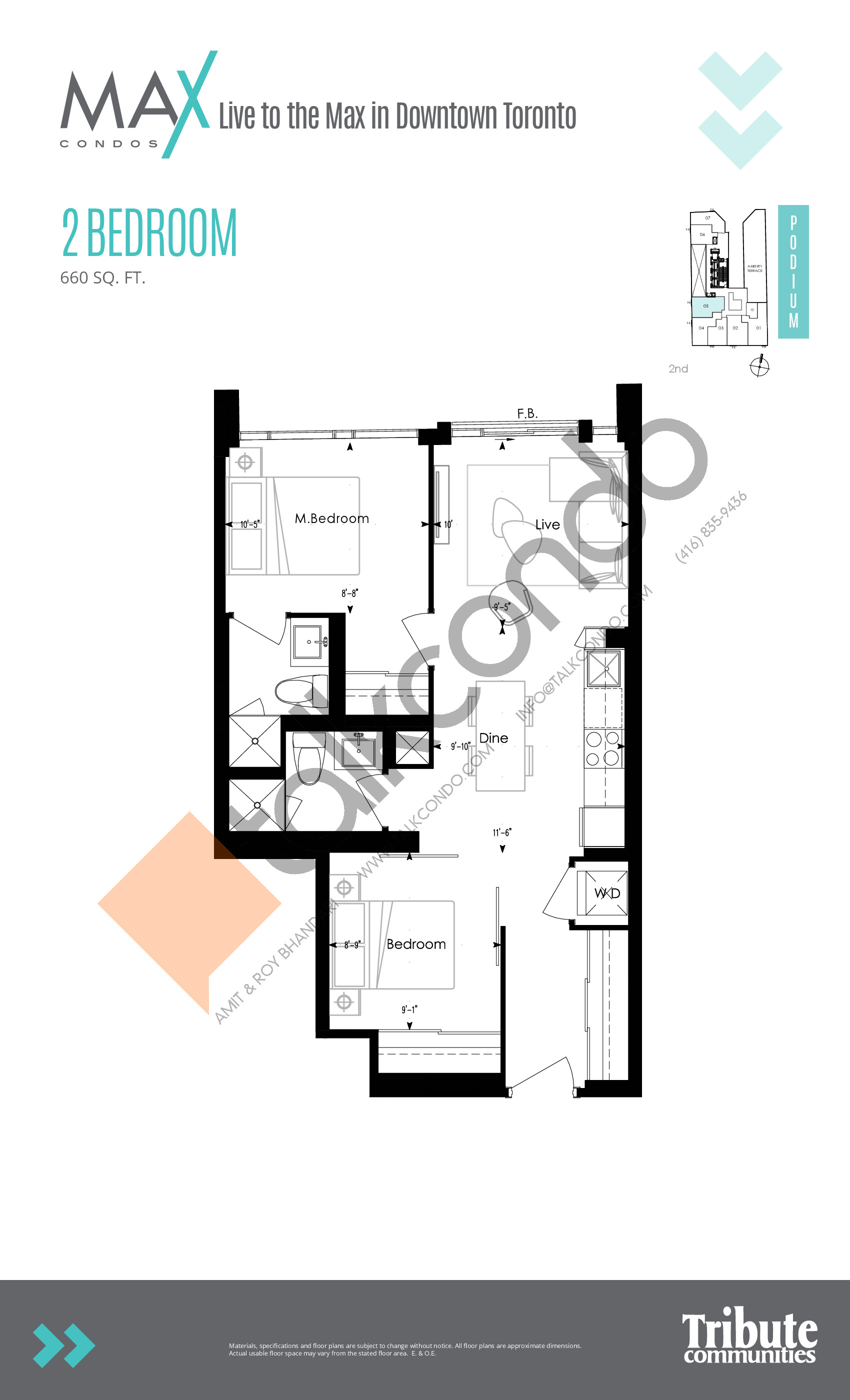 Suite 10 Floor Plan at Max Condos - 560 sq.ft