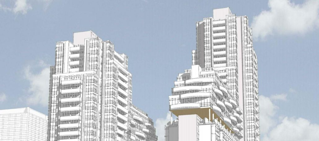 Plaza Midtown Condos Wire Drawing
