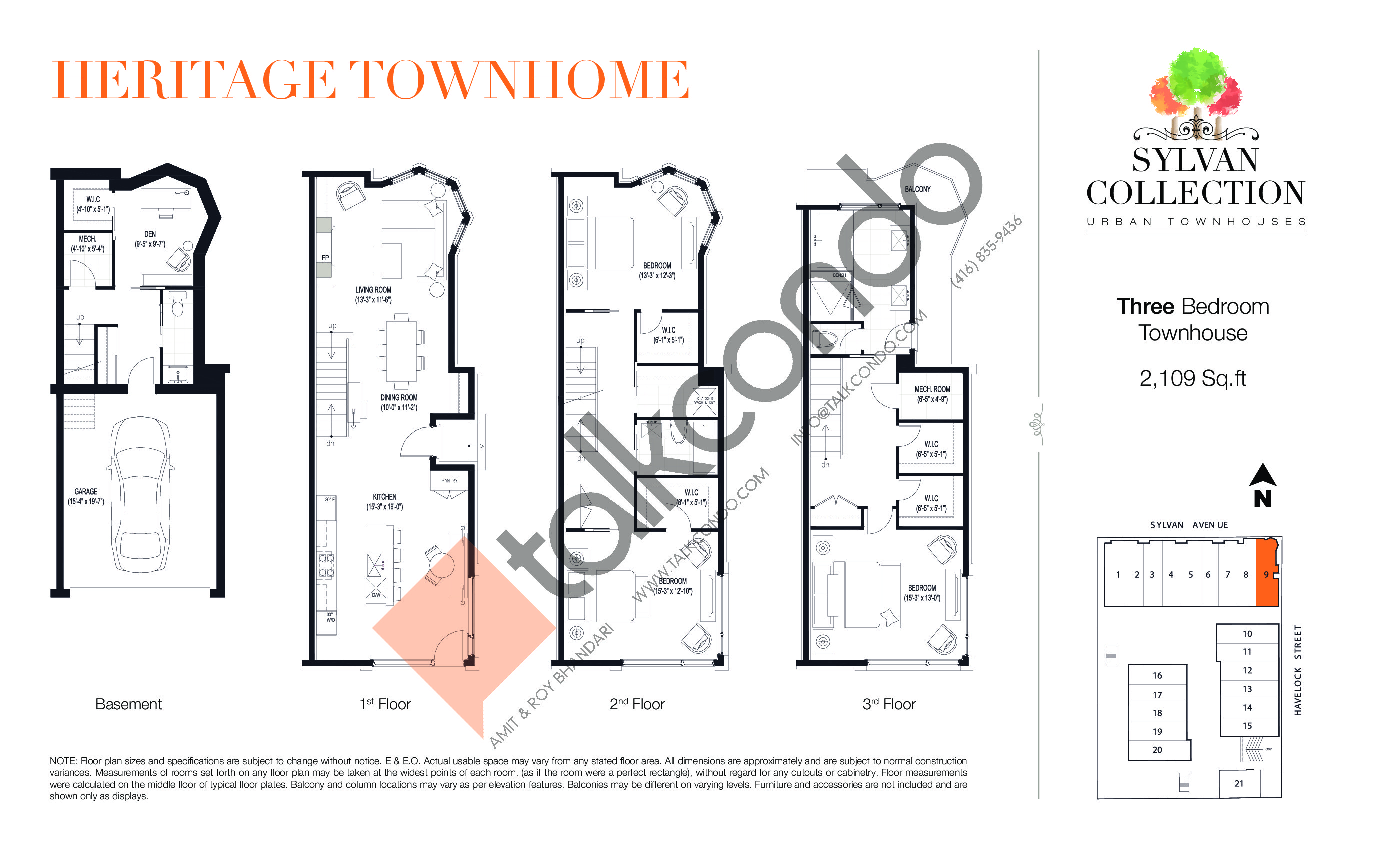 Urban Townhouse Floor Plans: Sylvan Collection Urban Townhouses