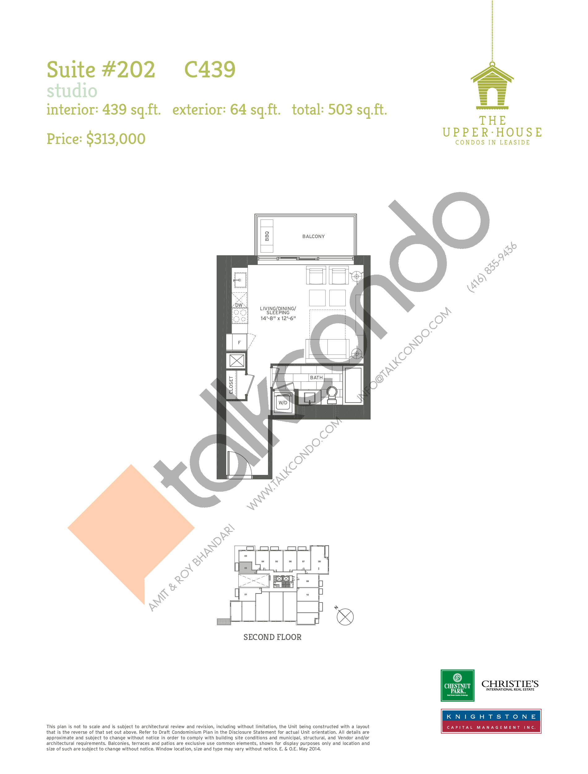 C439 Floor Plan at The Upper House Condos - 439 sq.ft
