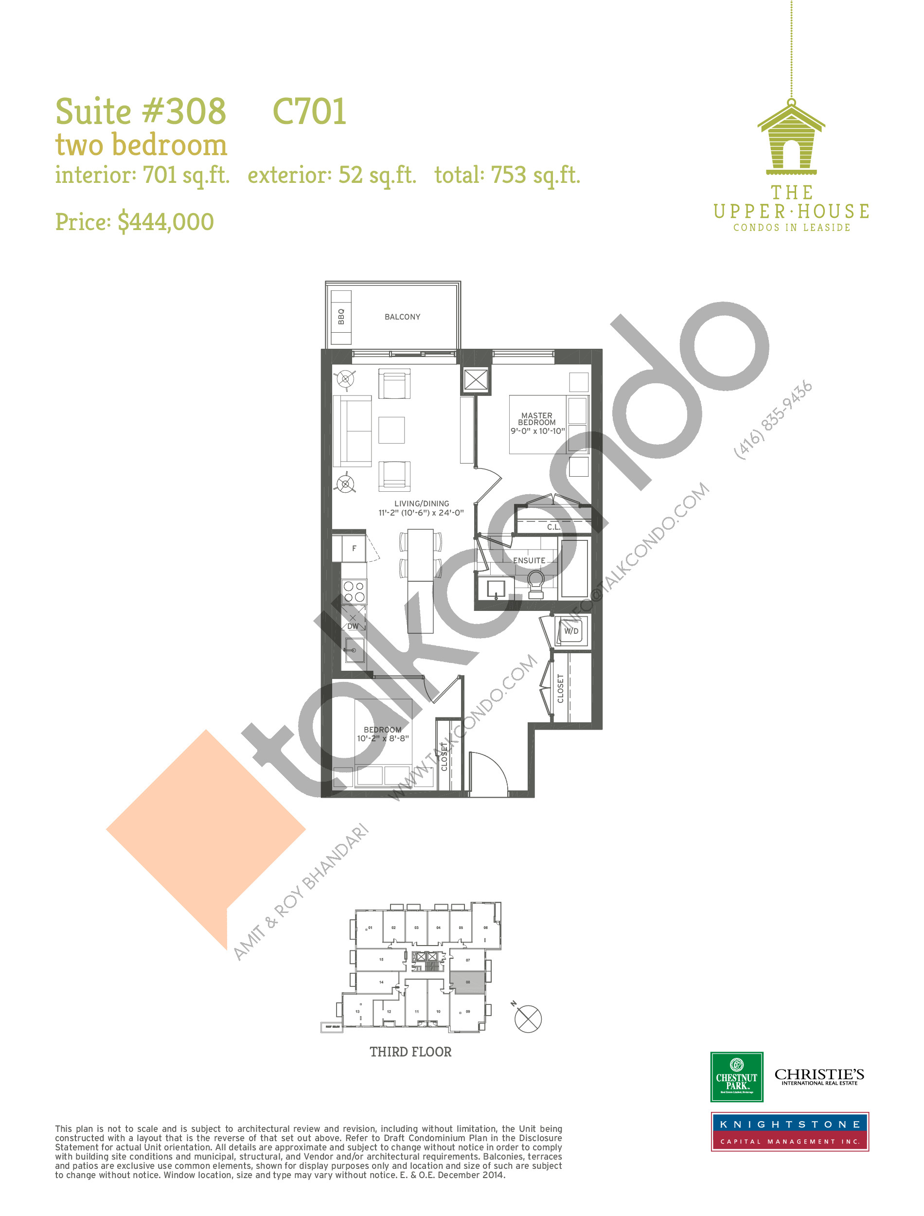 C701 Floor Plan at The Upper House Condos - 701 sq.ft