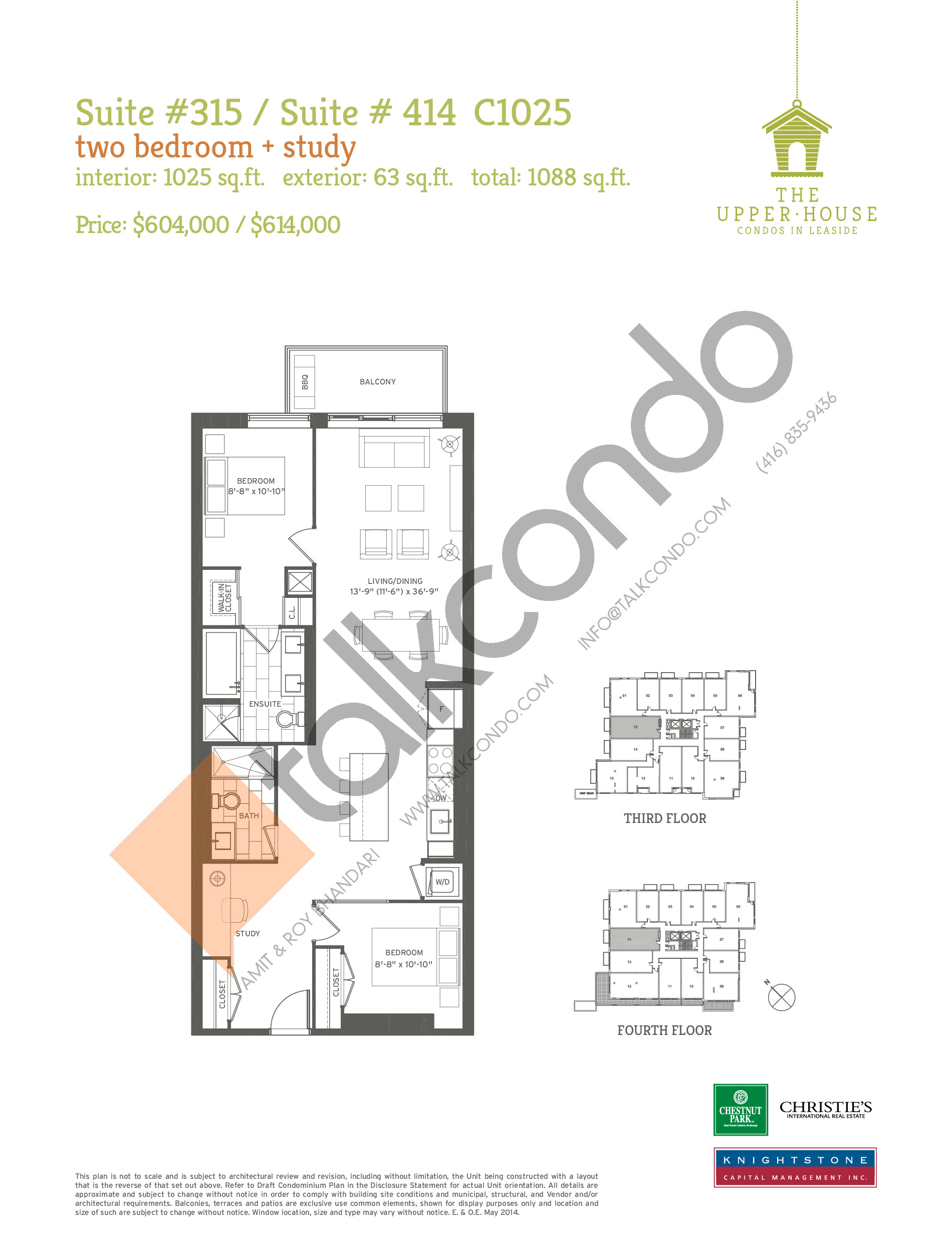 C1025 Floor Plan at The Upper House Condos - 1025 sq.ft