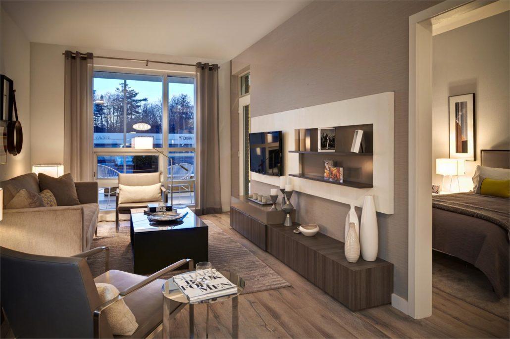 ParkCity Condos Model Suite Living Room