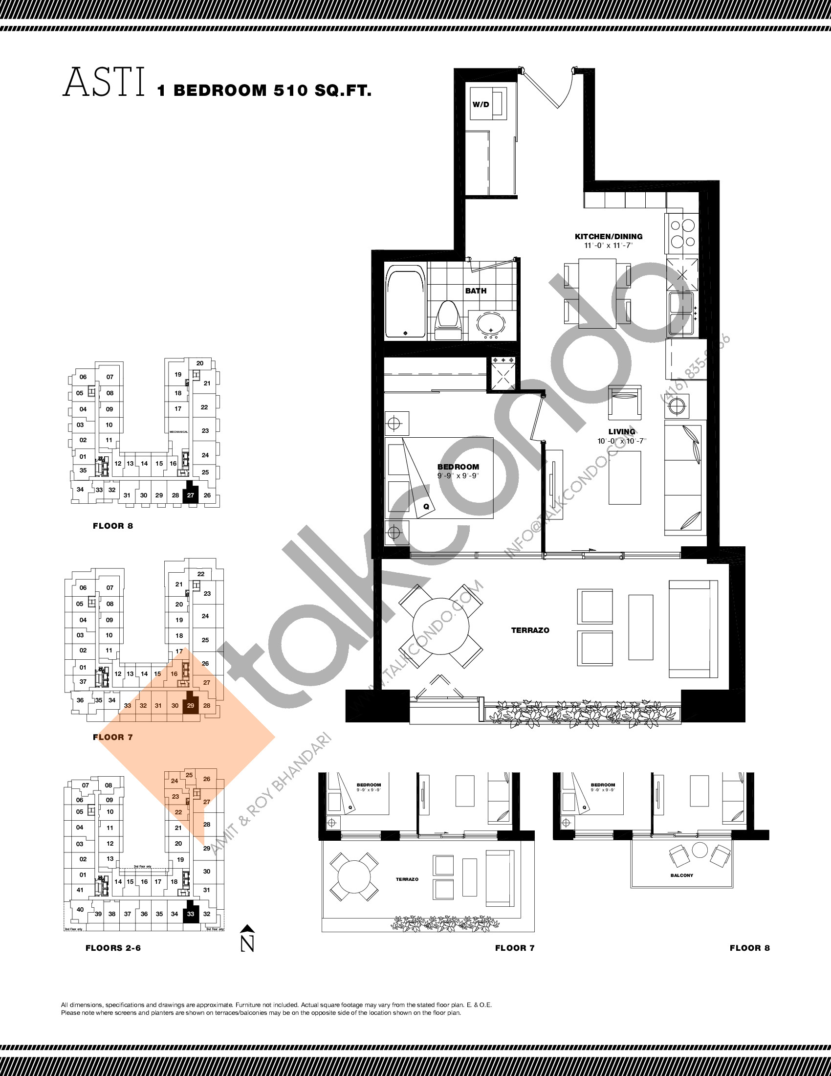 Asti Floor Plan at Residenze Palazzo at Treviso 3 Condos - 510 sq.ft