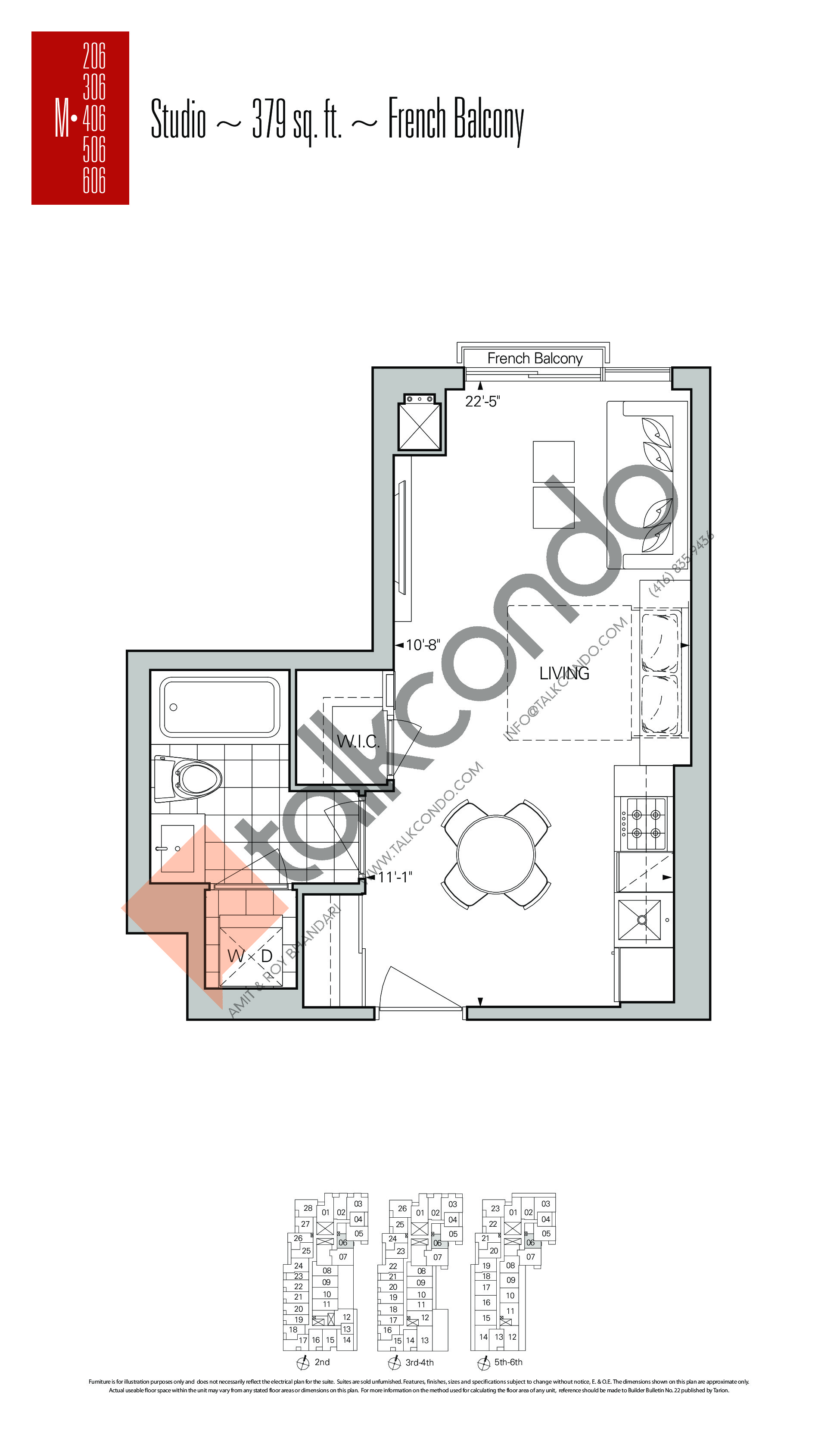 M-06 Floor Plan at Rise Condos - 379 sq.ft