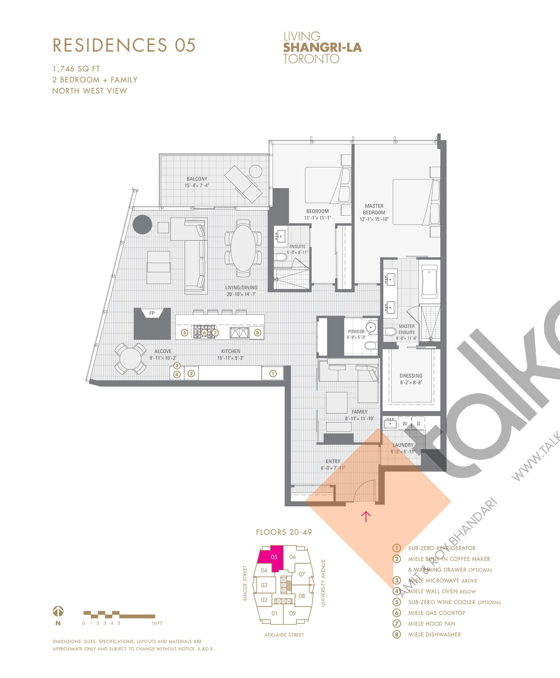Shangri La Hotel Amp Residences Residences 03 1100 Sq Ft