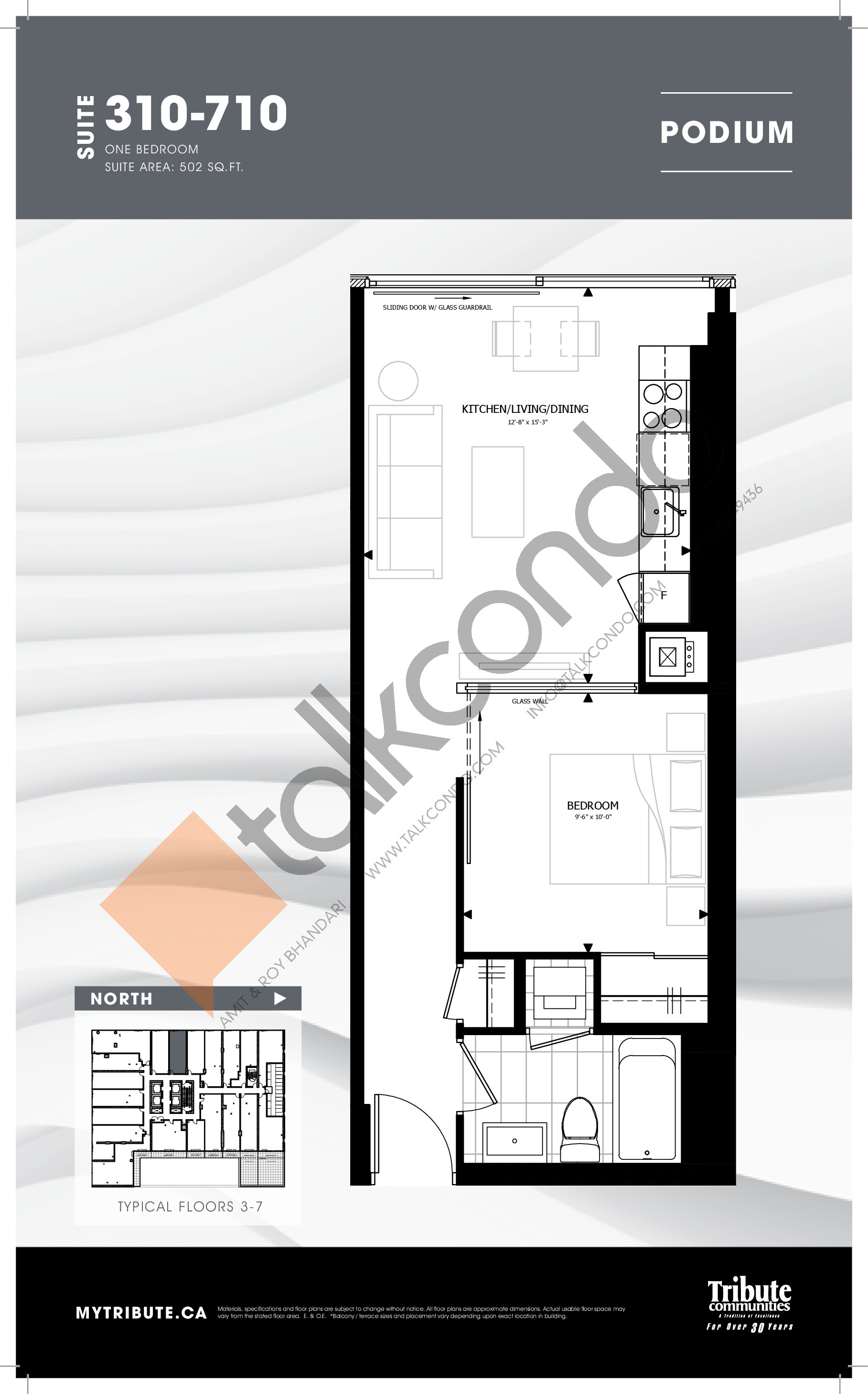 310-710 Floor Plan at Stanley Condos - 502 sq.ft