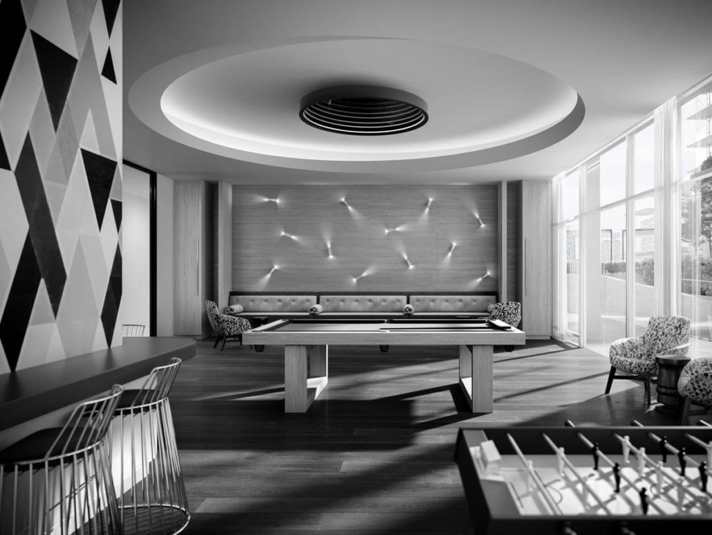 Time and Space Condos Games Room