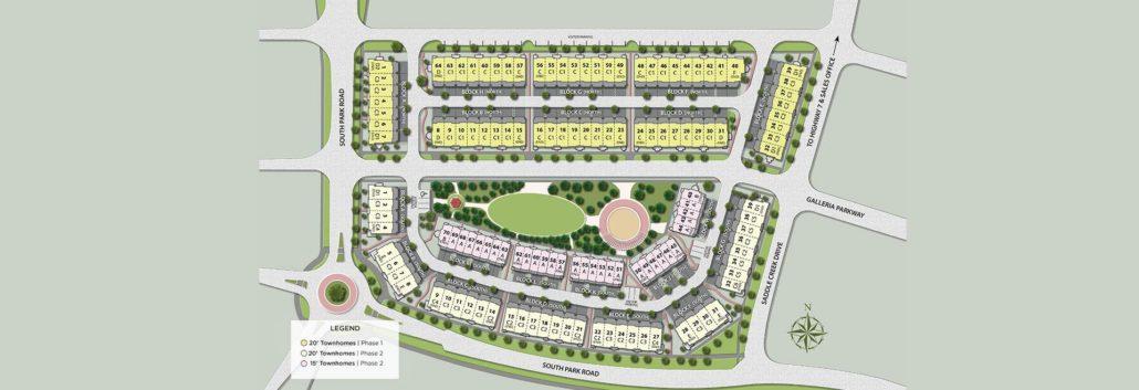 Pavilia Park Towns Site Plan