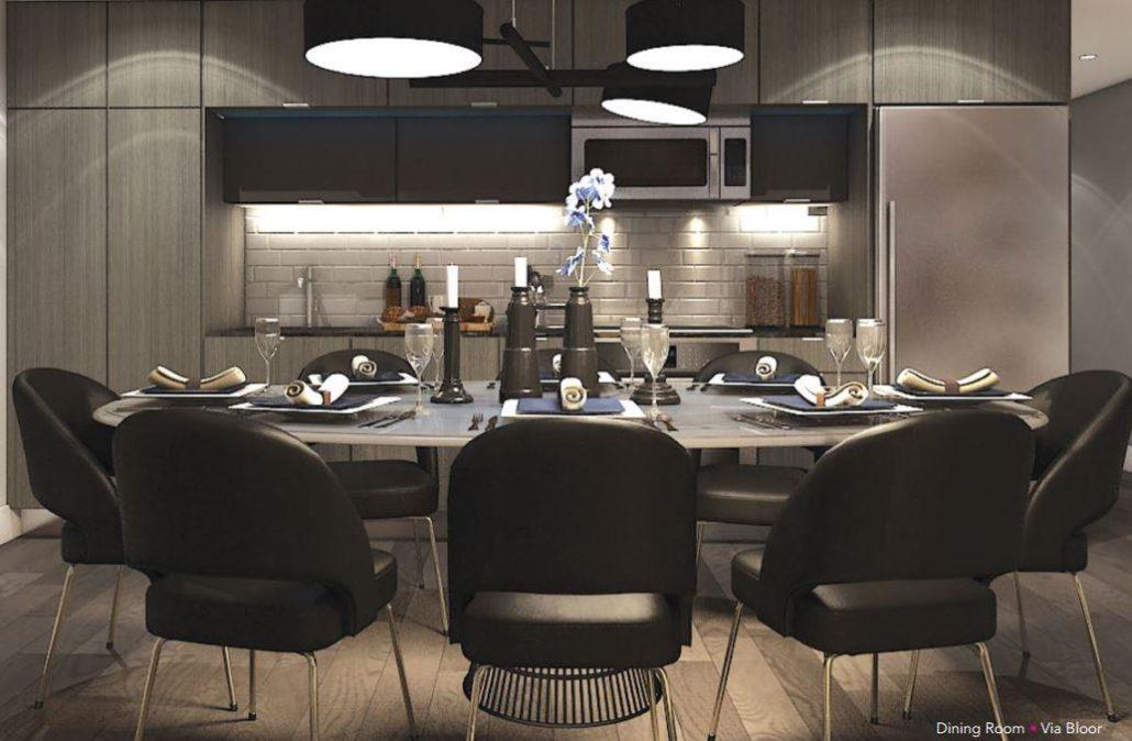 Via Bloor Condos 2 Dining Room