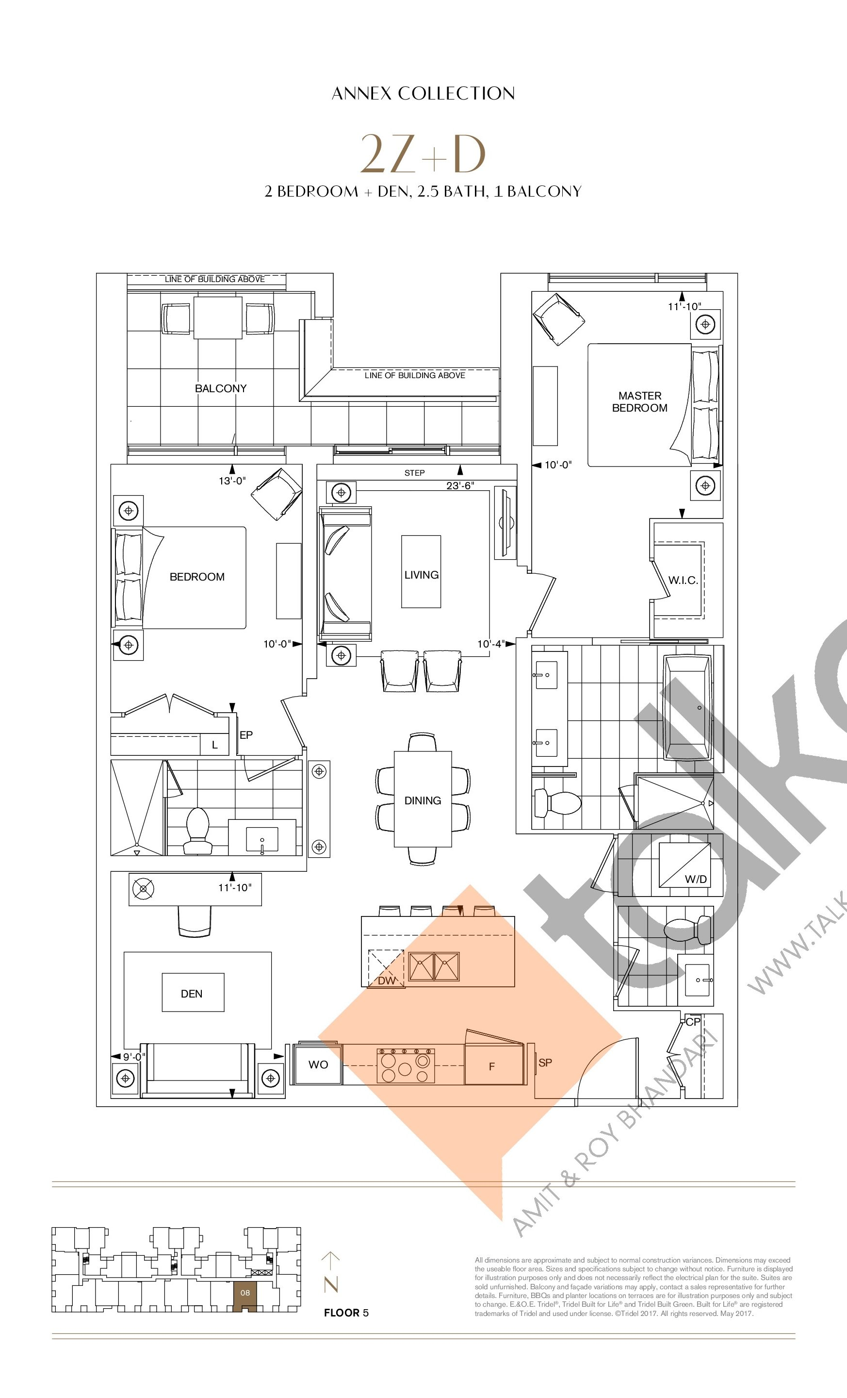 2Z+D Floor Plan at Bianca Condos - 1248 sq.ft