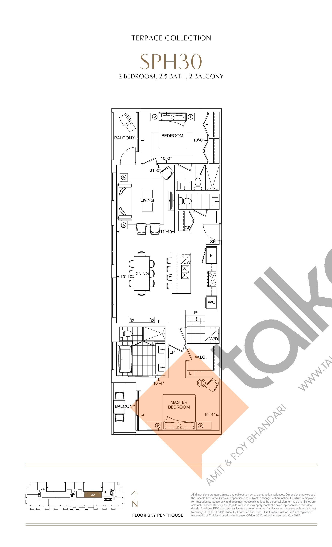 SPH30 Floor Plan at Bianca Condos - 1268 sq.ft
