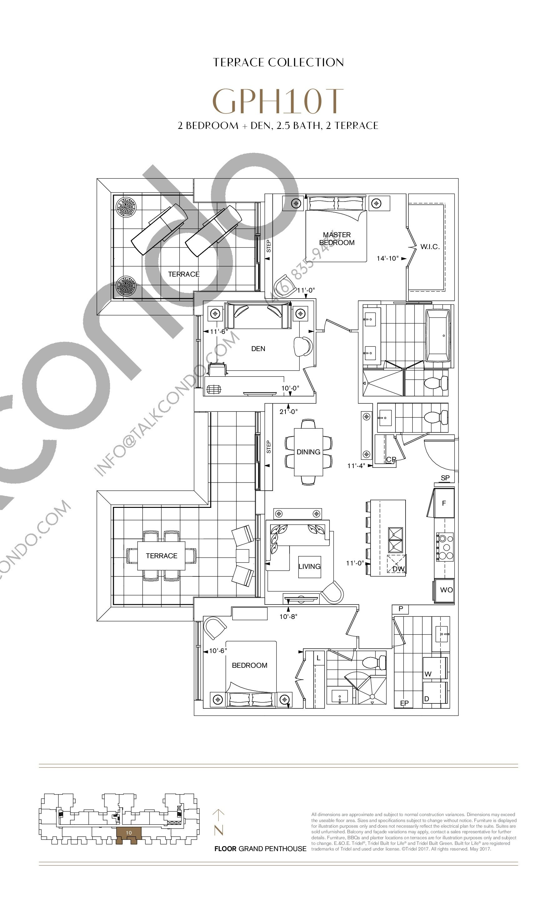 GPH10T Floor Plan at Bianca Condos - 1331 sq.ft