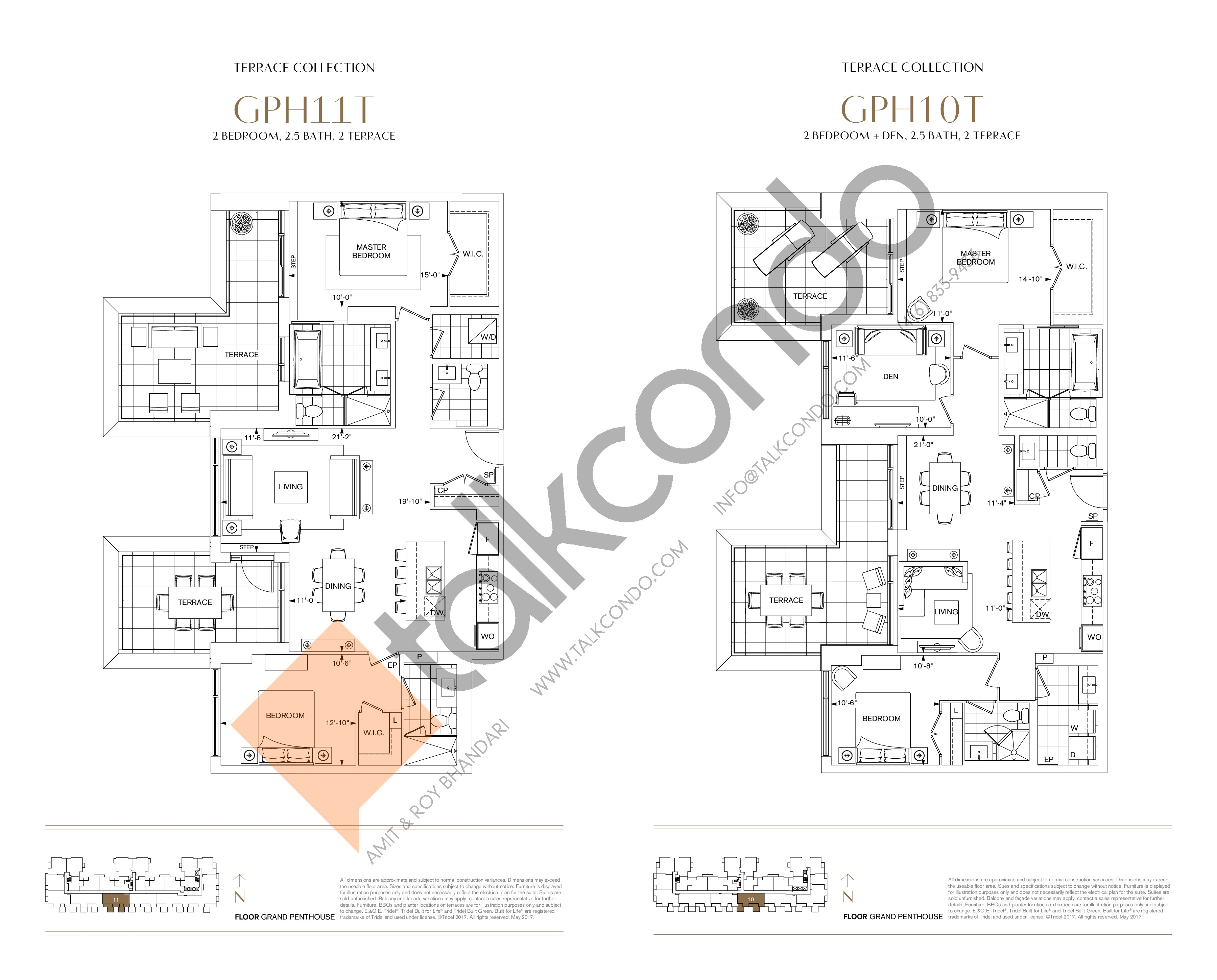 GPH10T Floor Plan at Bianca Condos - 1331 sq.ft