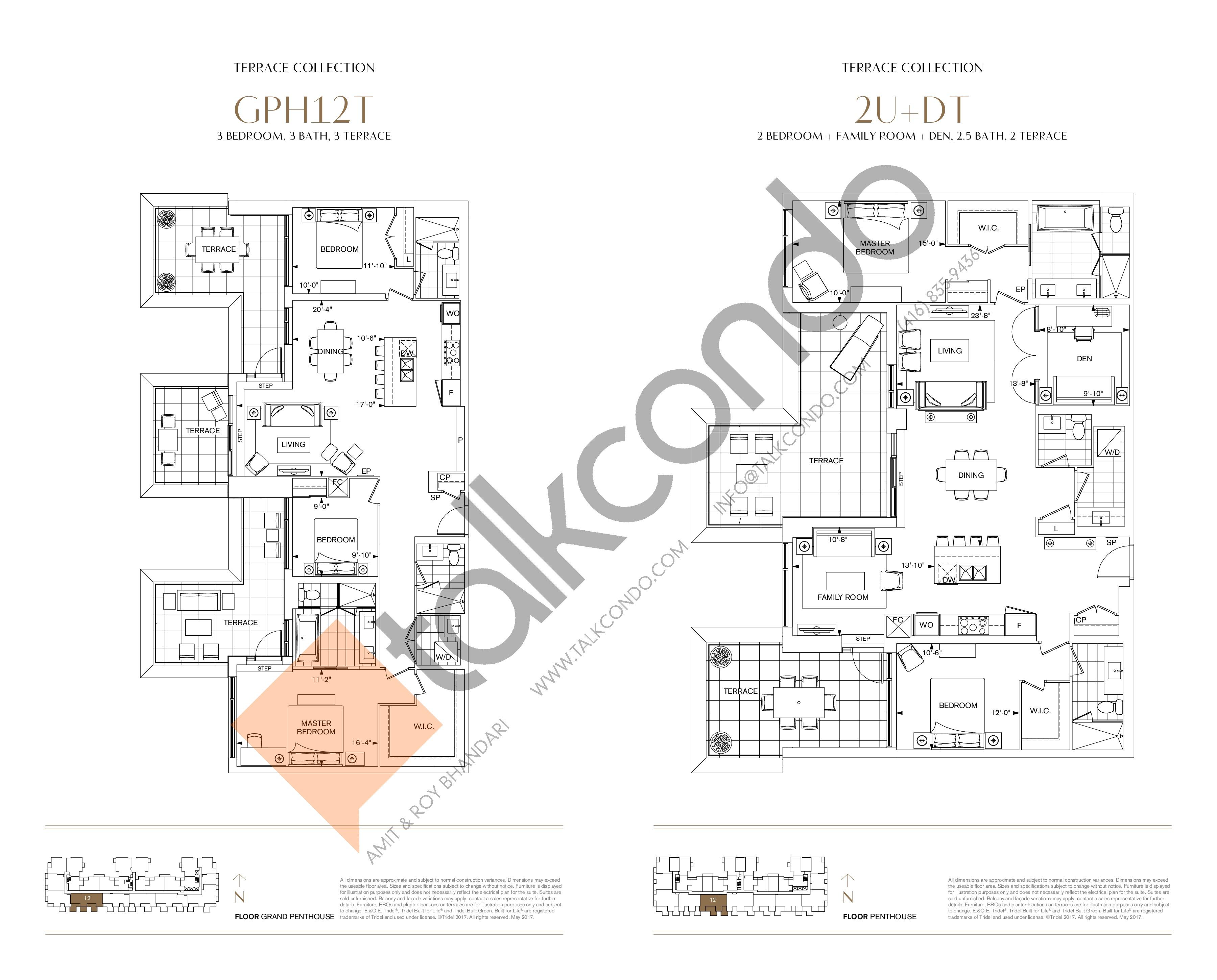 GPH12T Floor Plan at Bianca Condos - 1575 sq.ft