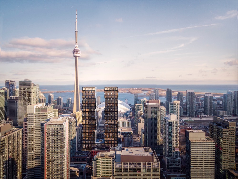Nobu Condos Toronto Aerial View