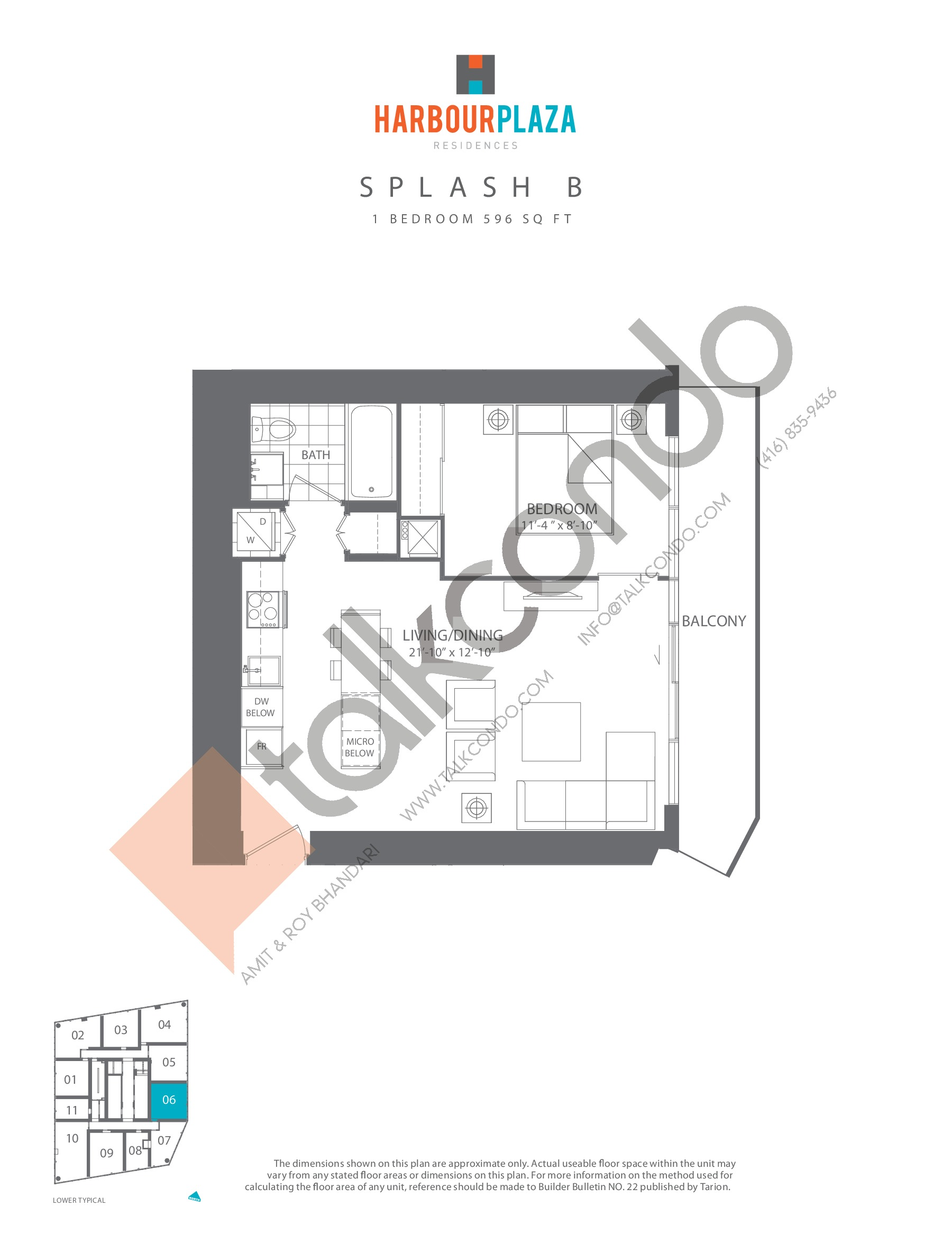 Splash B Floor Plan at Harbour Plaza Residences - 596 sq.ft