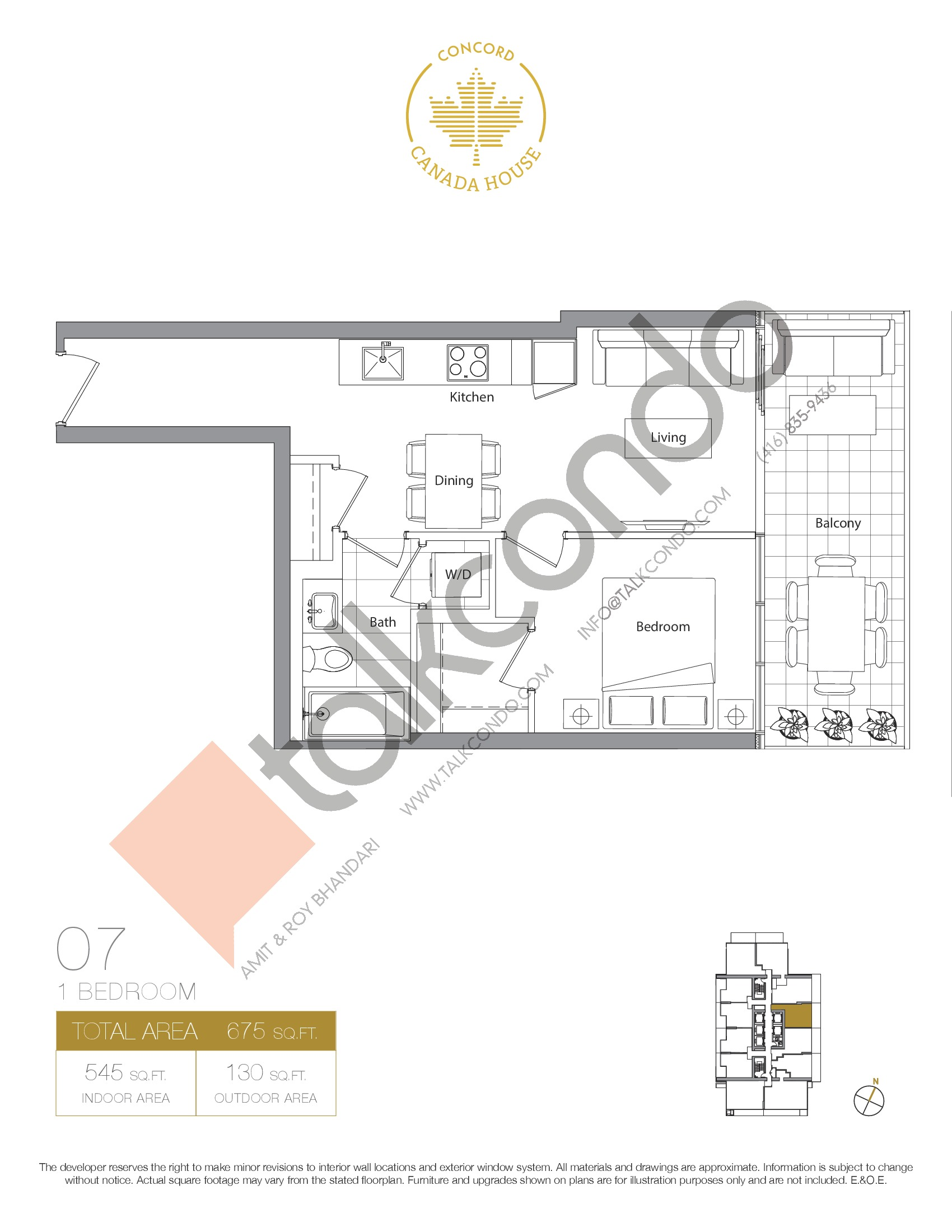 07 - West Tower Floor Plan at Concord Canada House Condos - 545 sq.ft