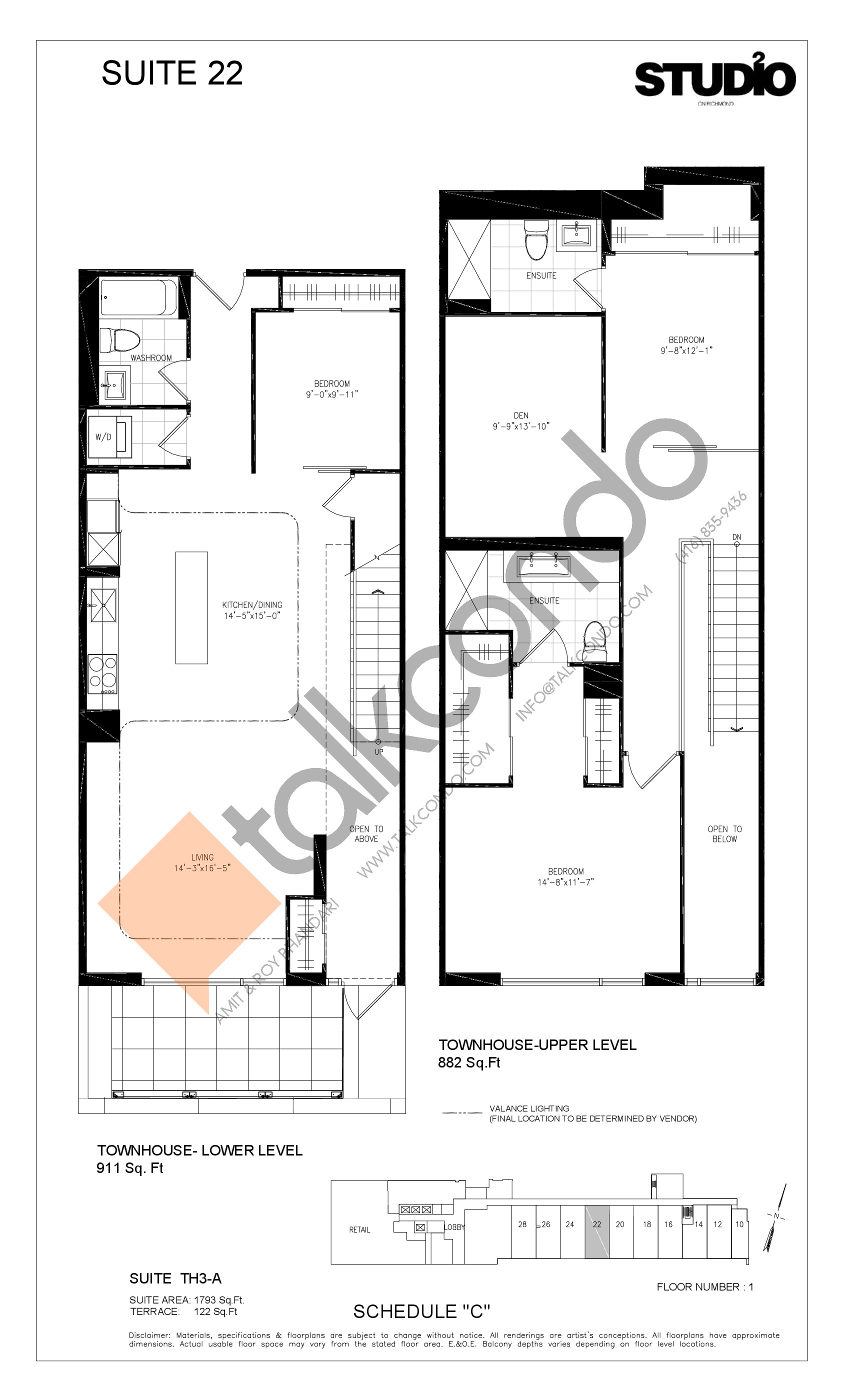 Suite 22 - TH3-A Floor Plan at Studio 2 Condos - 1793 sq.ft