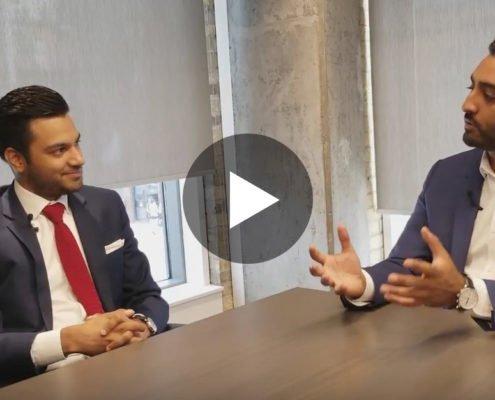 Roy Bhandari interviewing Shamez Virani
