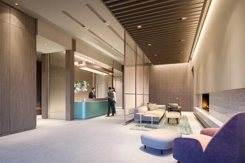 Zen King West Condos Lobby