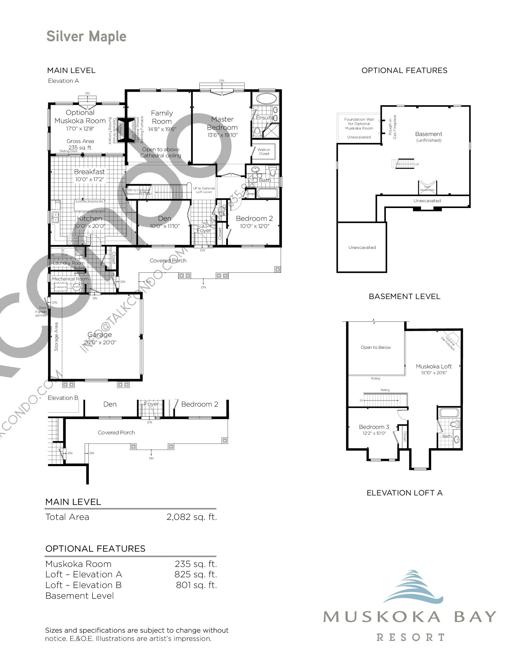 Silver Maple Floor Plan at Muskoka Bay Resort - 3142 sq.ft