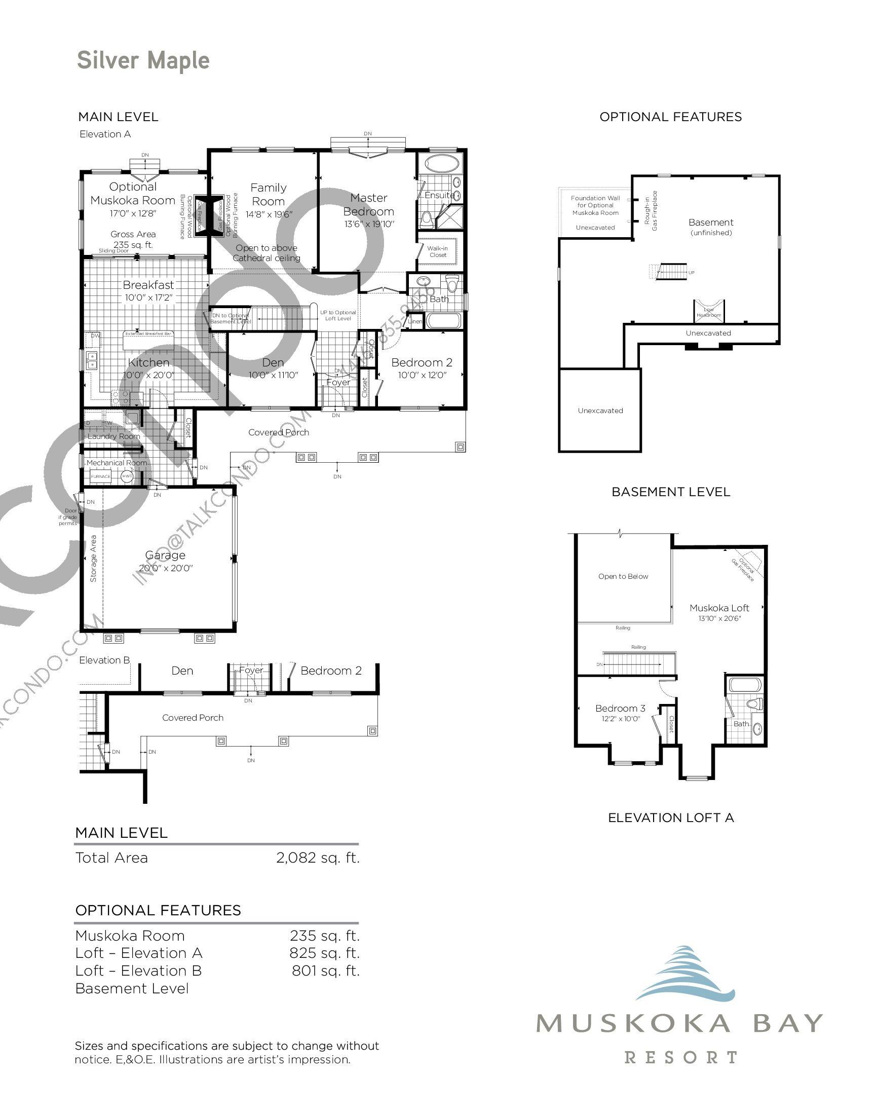 Silver Maple Floor Plan at Muskoka Bay Resort - 3142 sq.ft