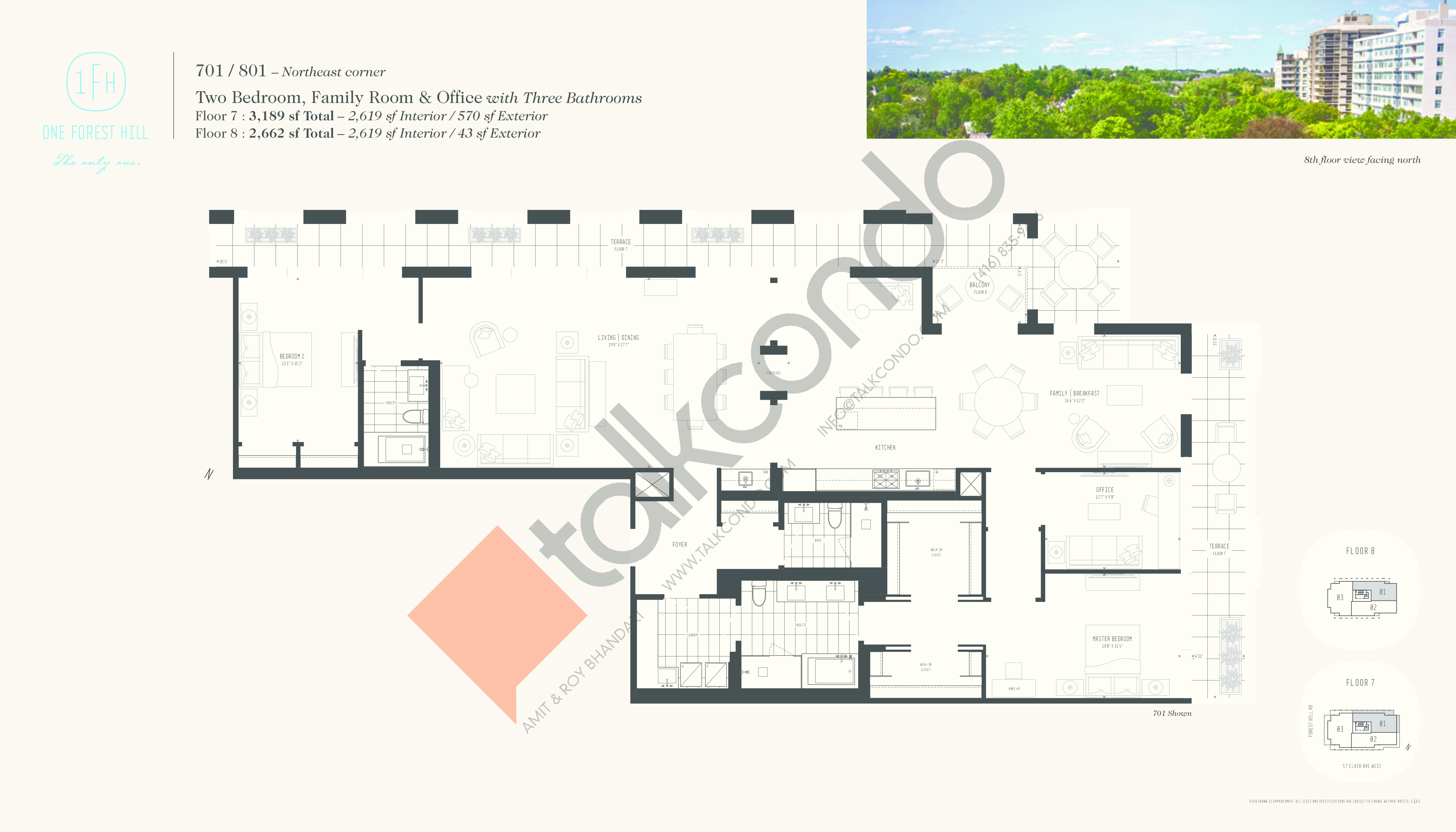 701 / 801 Floor Plan at One Forest Hill Condos - 2619 sq.ft