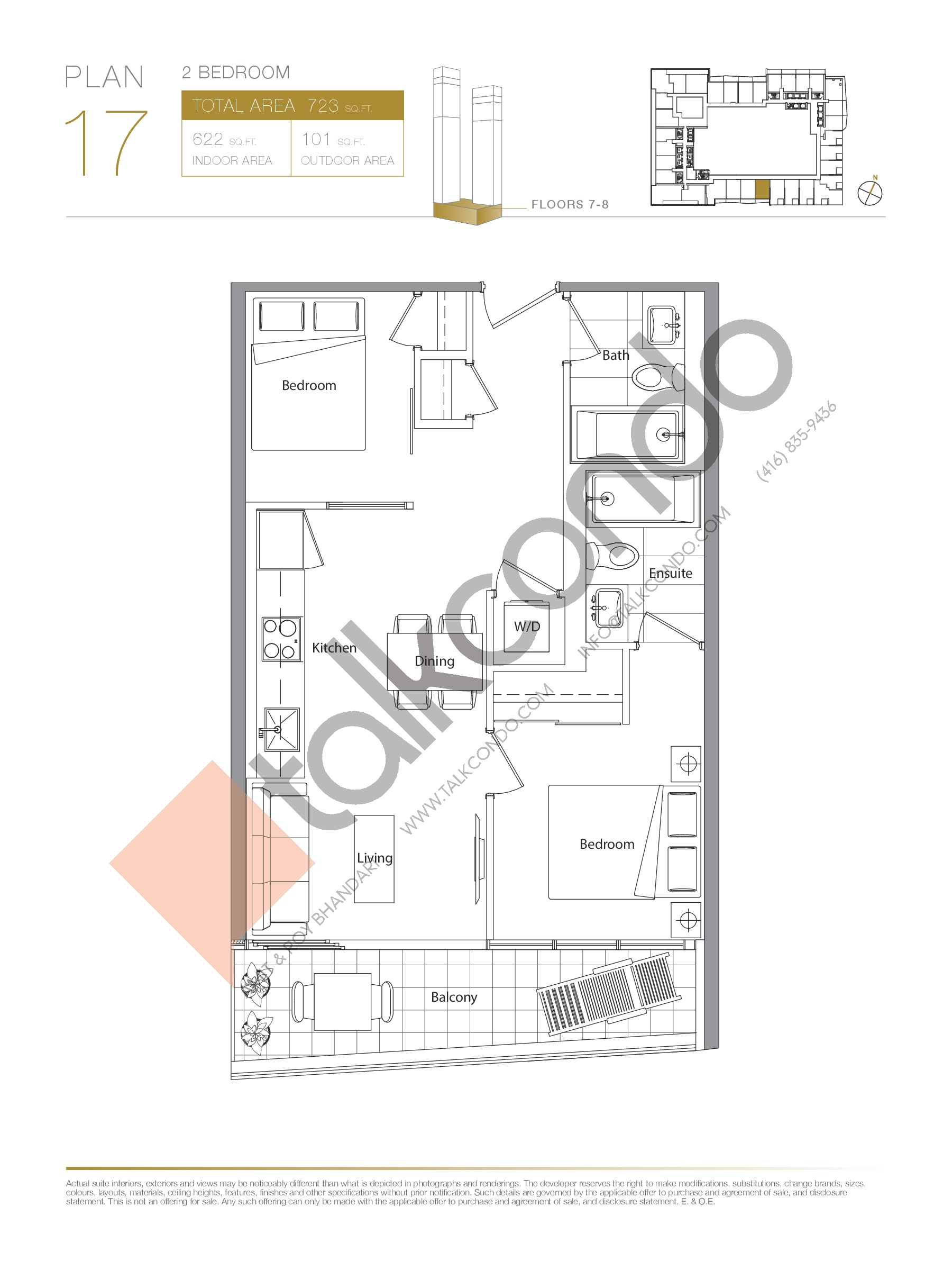 Plan 17 - Podium Floor Plan at Concord Canada House Condos - 622 sq.ft