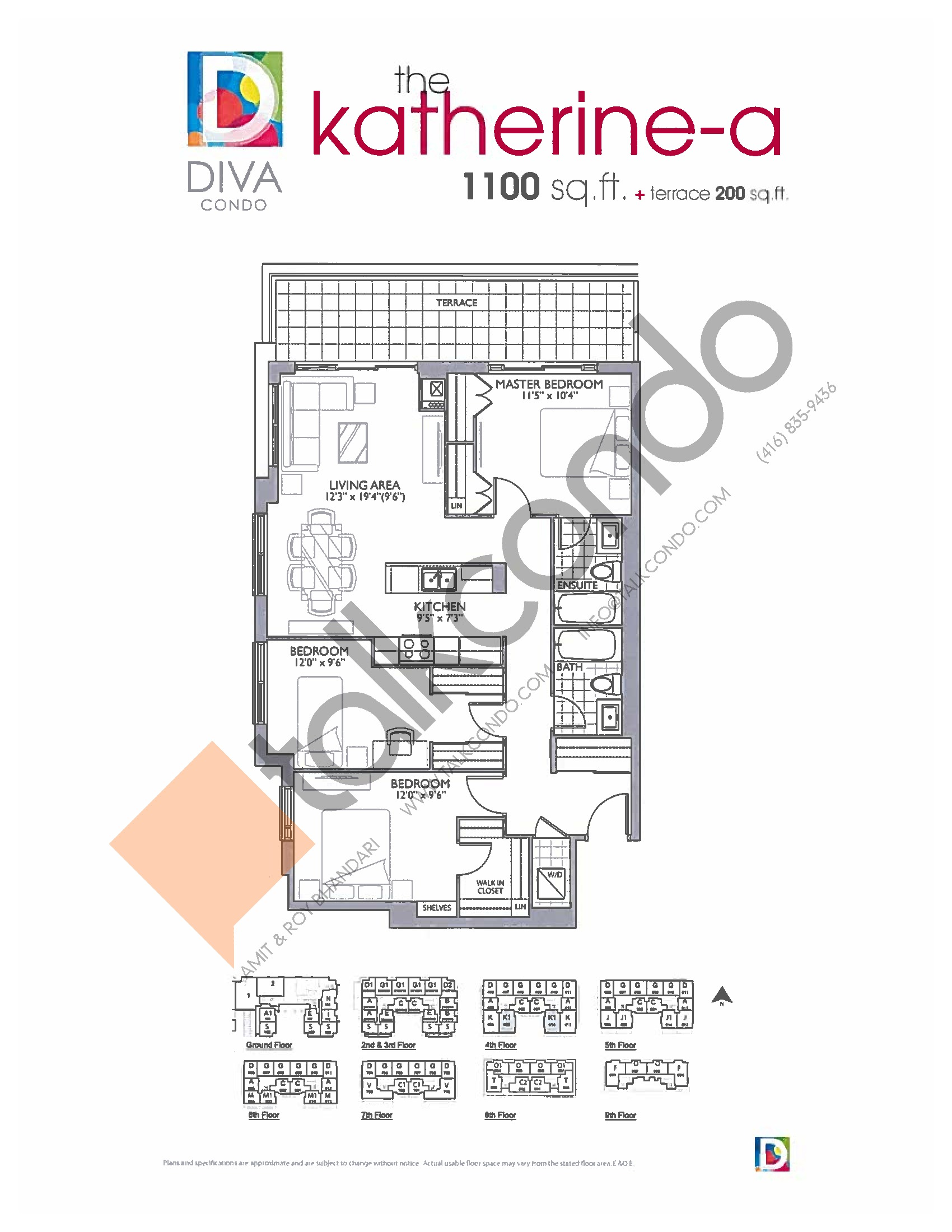 Diva Condos The Katherine A 1100 Sq Ft 3 Bedrooms