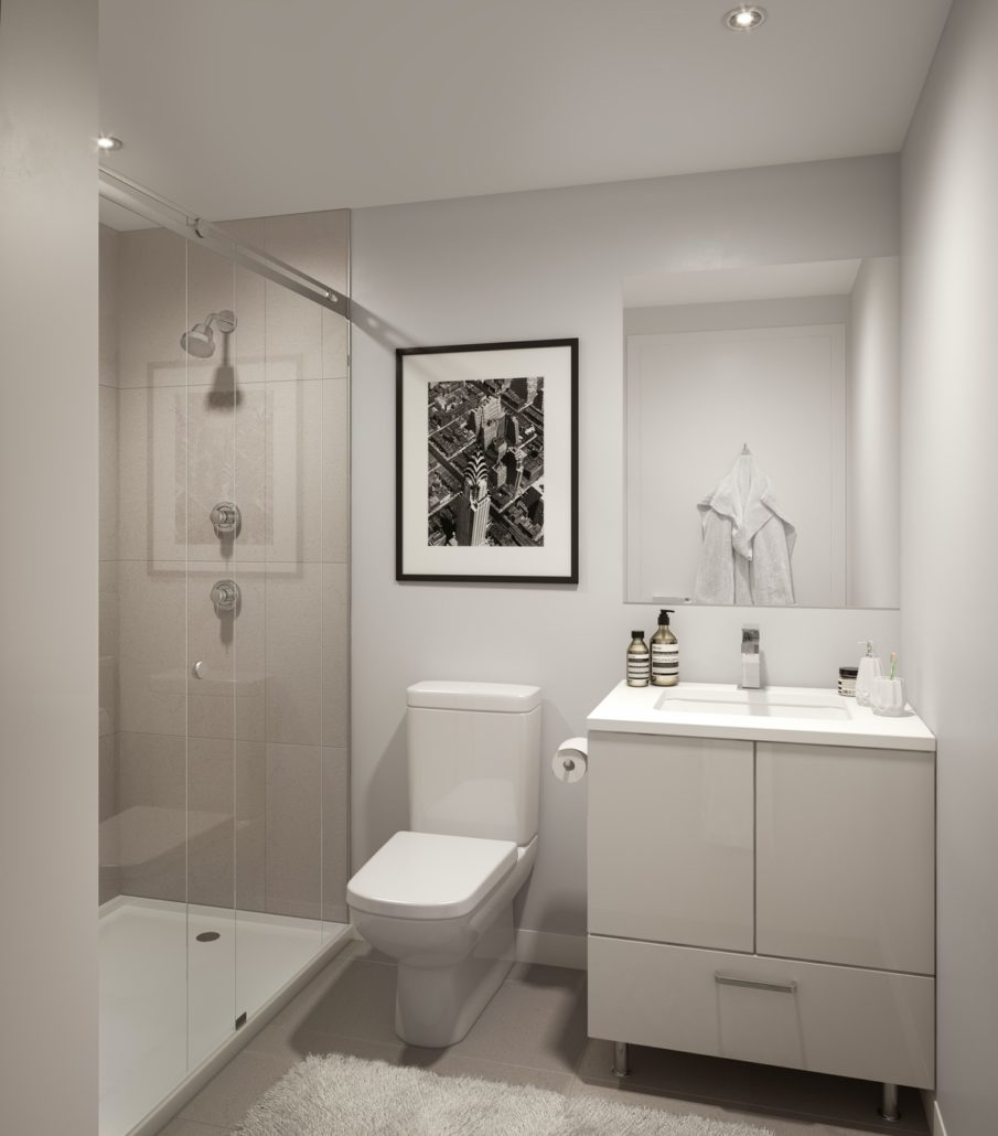 357 King West Condos 2BR Shower