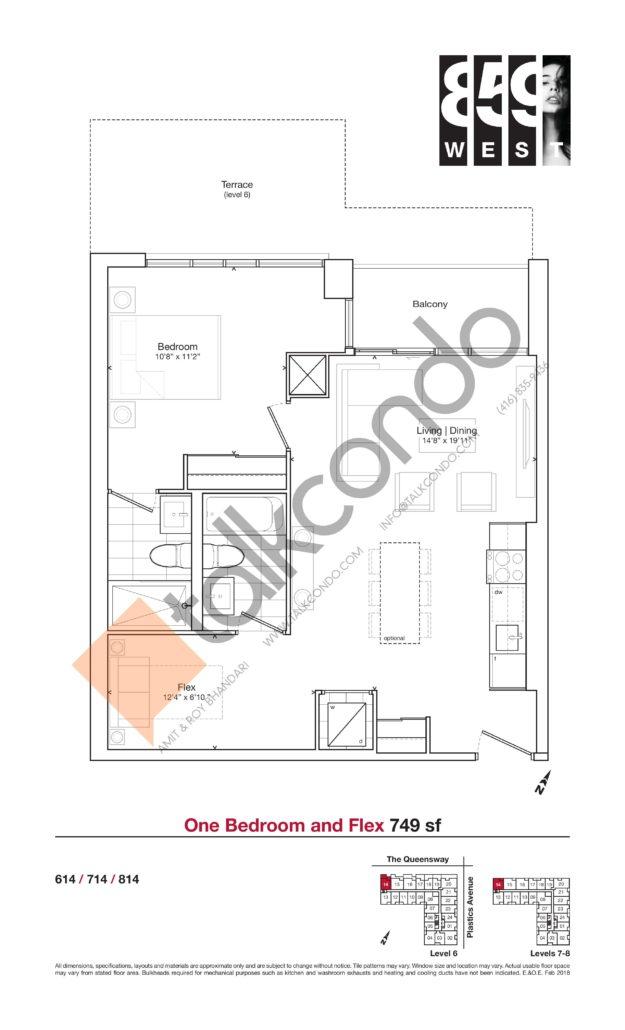 859 West Condos Floor Plan
