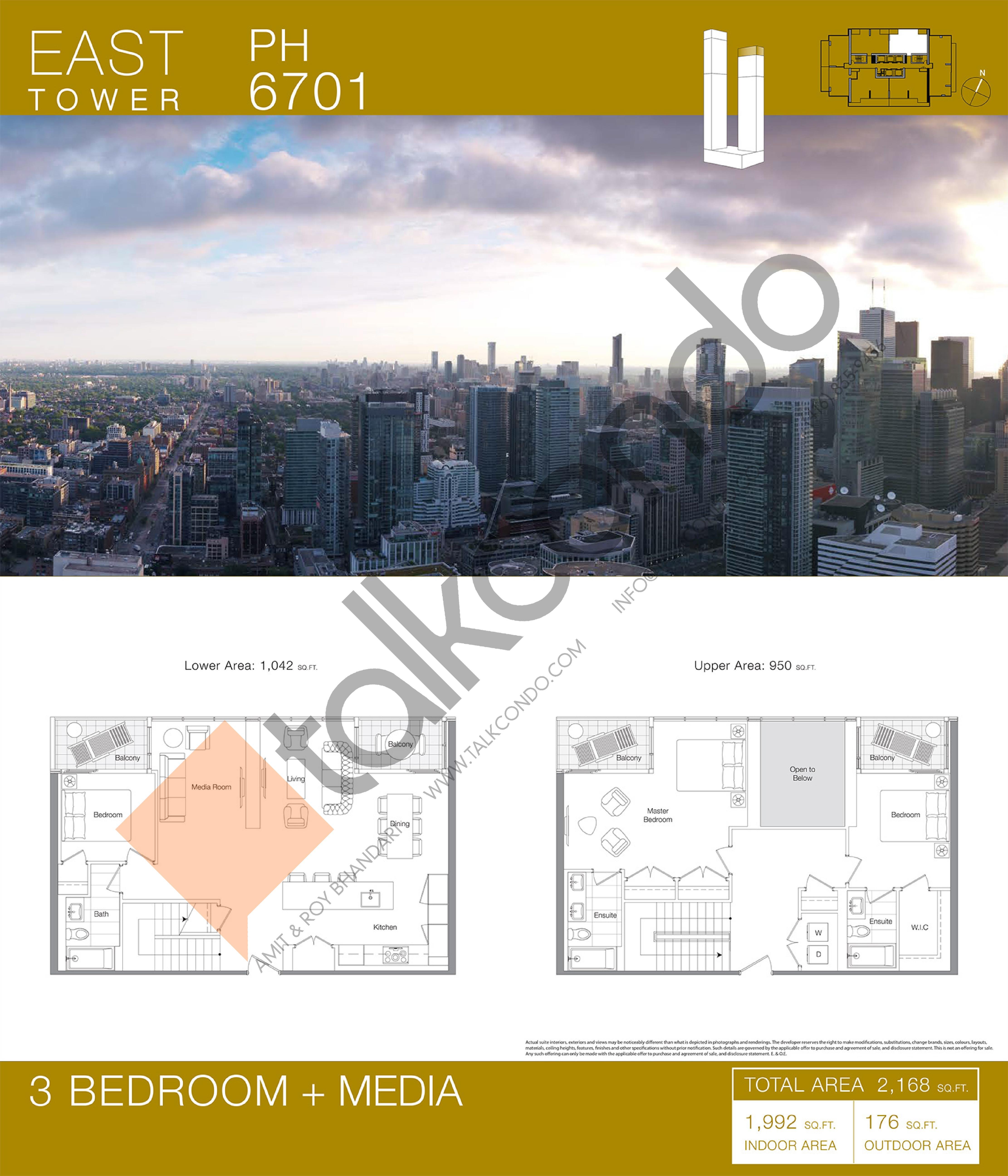 PH 6701 Floor Plan at Concord Canada House Condos - 1992 sq.ft