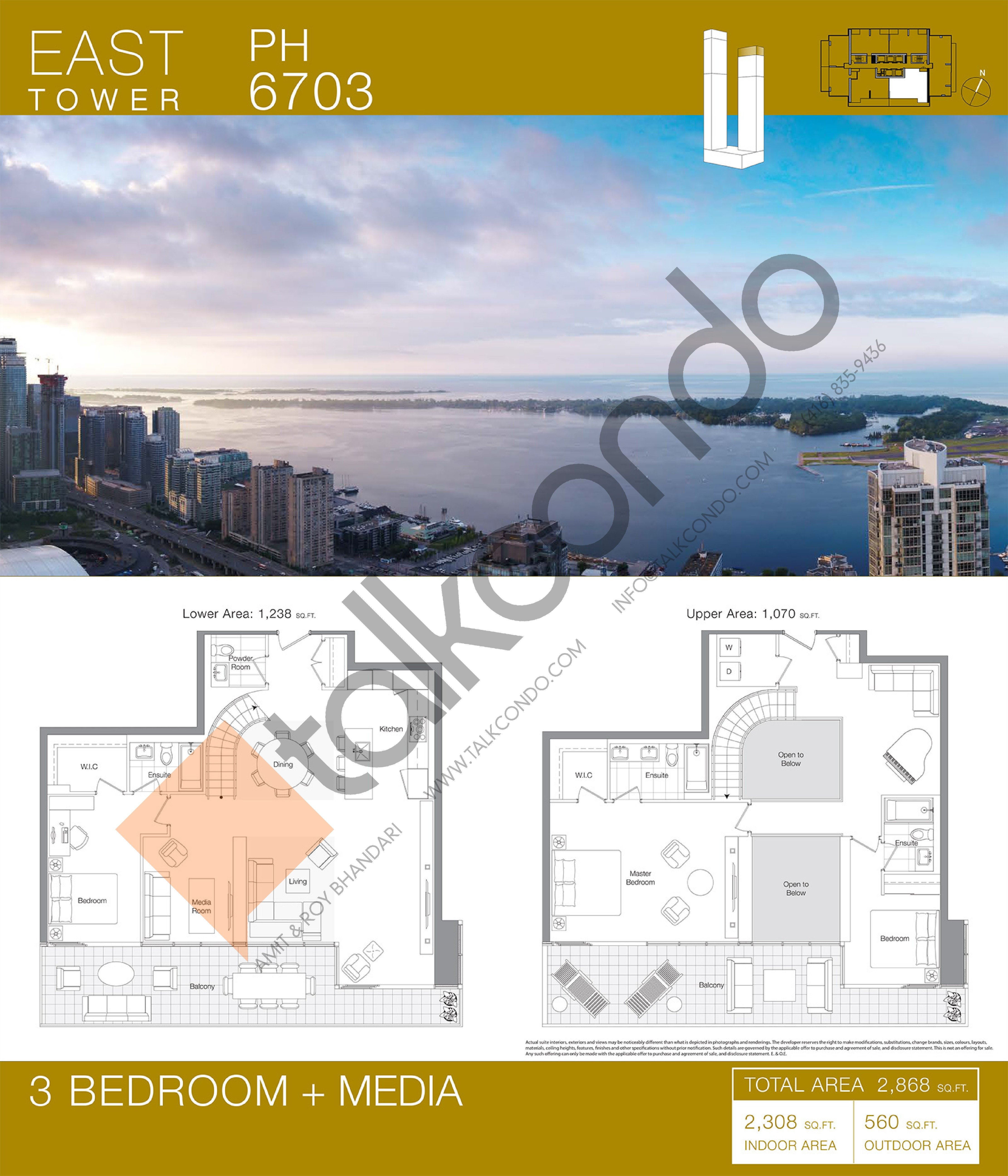PH 6703 Floor Plan at Concord Canada House Condos - 2308 sq.ft