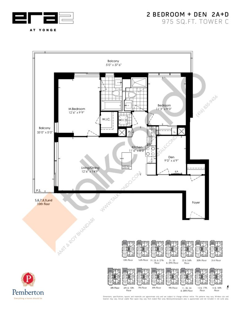 Era 2 at Yonge​ Condos Condos Floor Plans