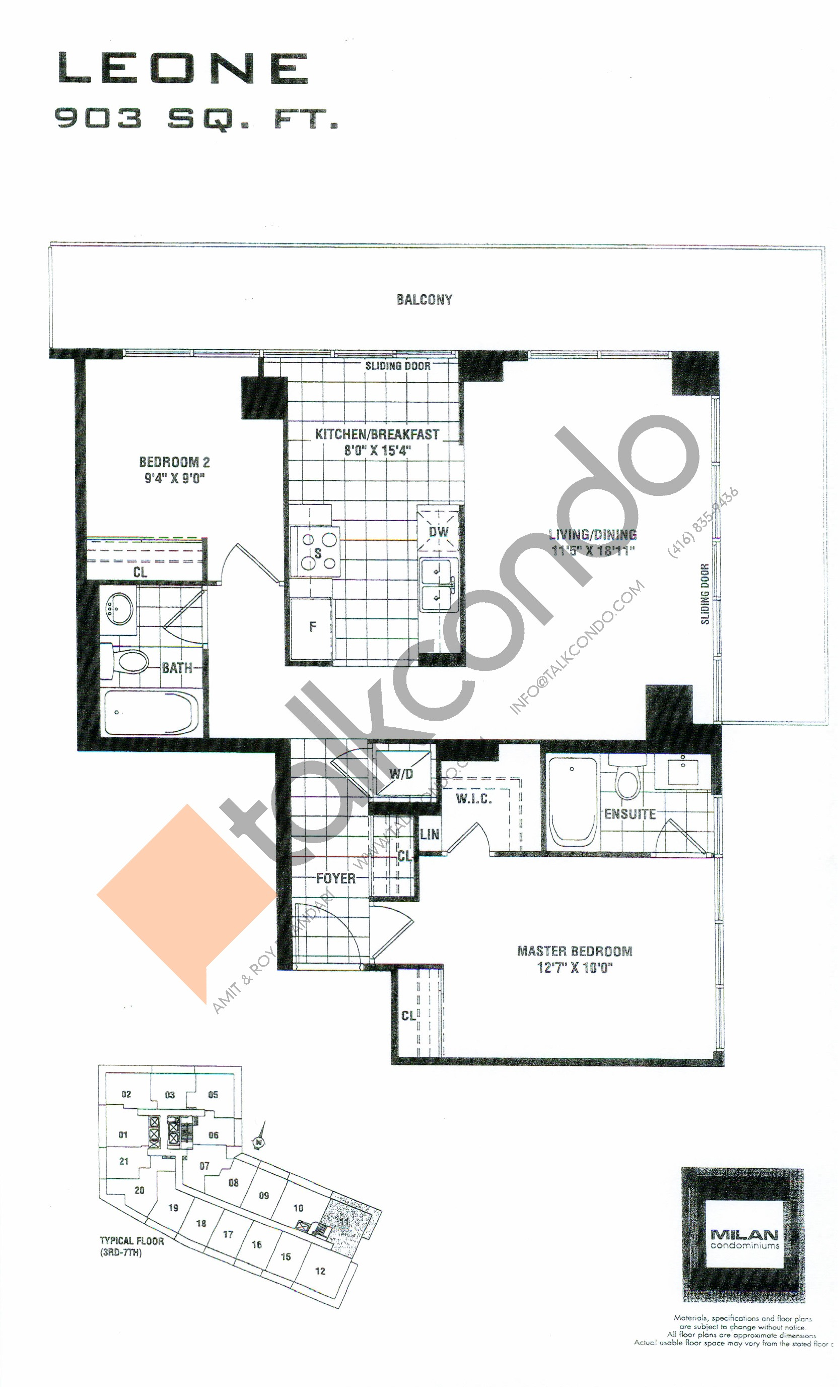 San Remo Floor Plans Milan Condos Talkcondo