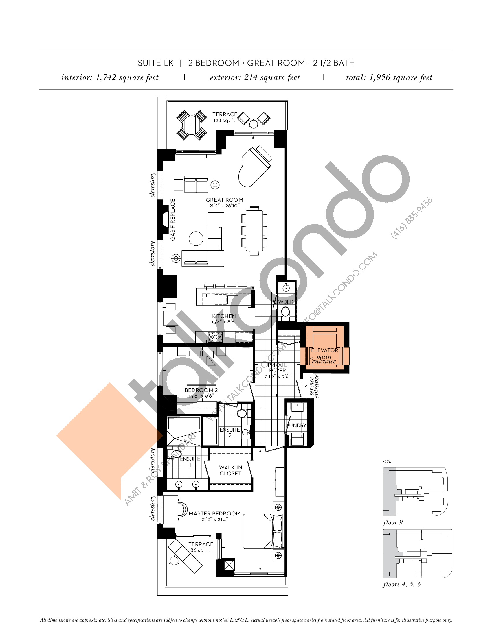 Suite LK Floor Plan at The Davies - 1742 sq.ft