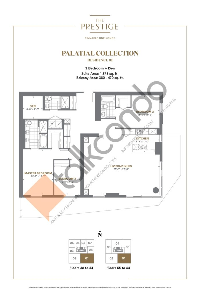 The Prestige Condos at Pinnacle One Yonge Condos Floor Plans