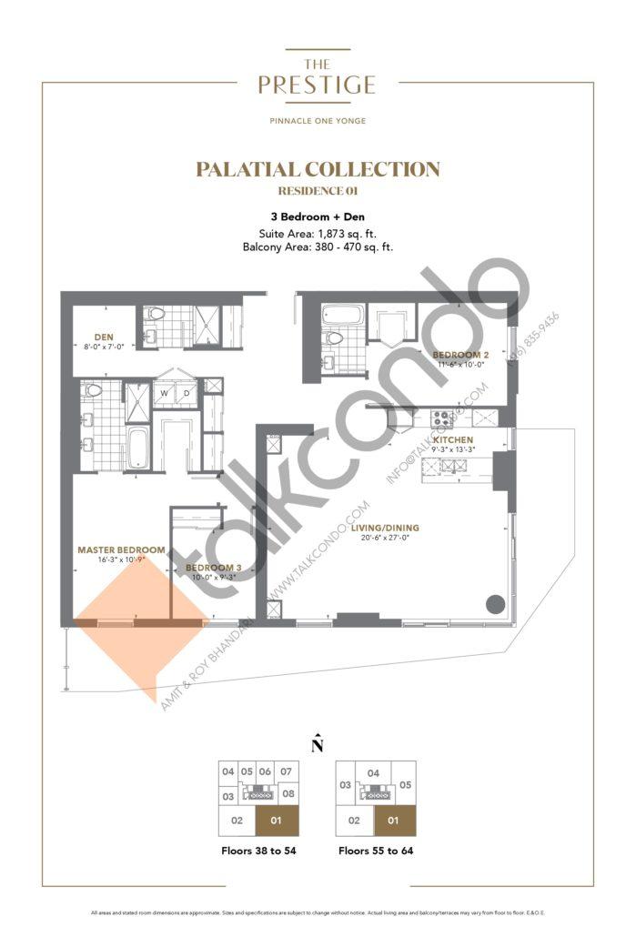 The Prestige Condos at Pinnacle One Yonge Condos Floor Plans