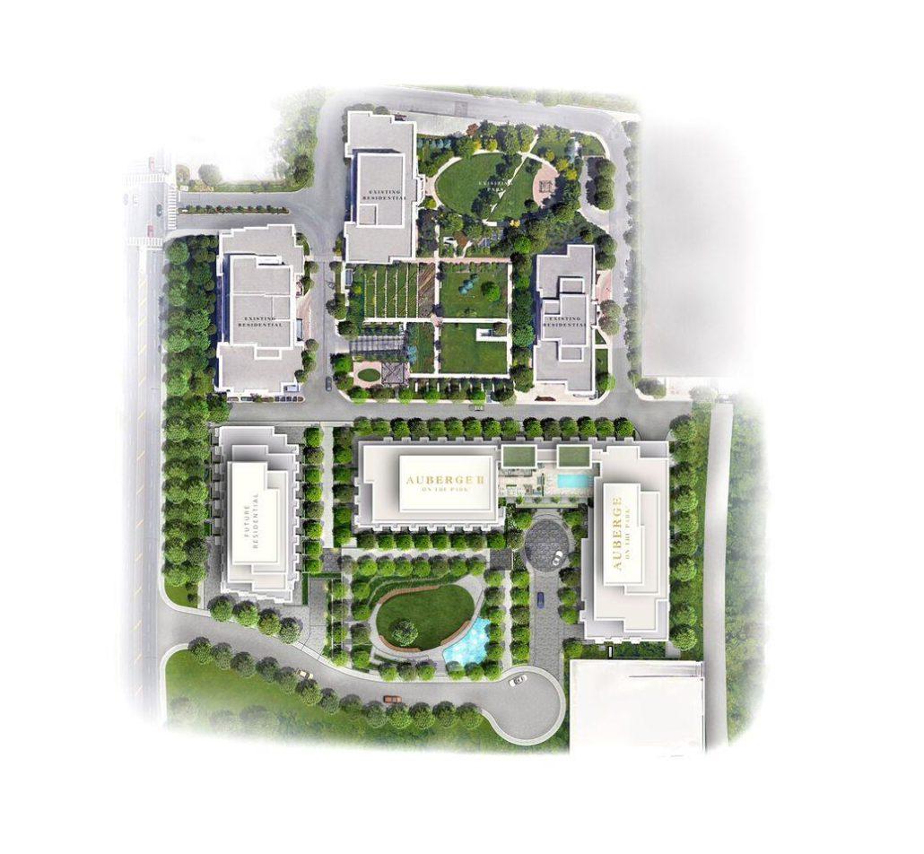 Auberge 2 On The Park Siteplan