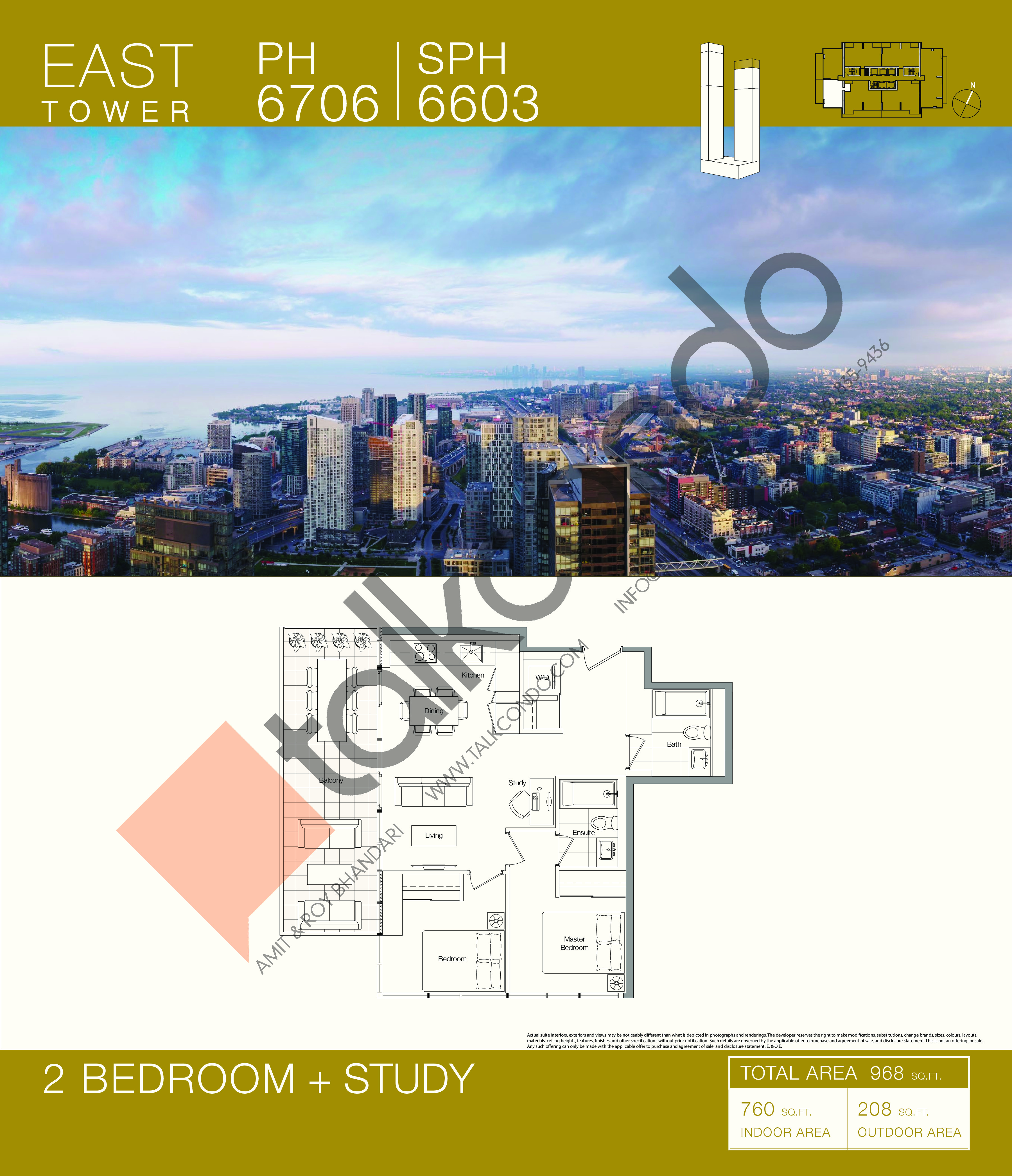PH 6706   SPH 6603 Floor Plan at Concord Canada House Condos - 760 sq.ft