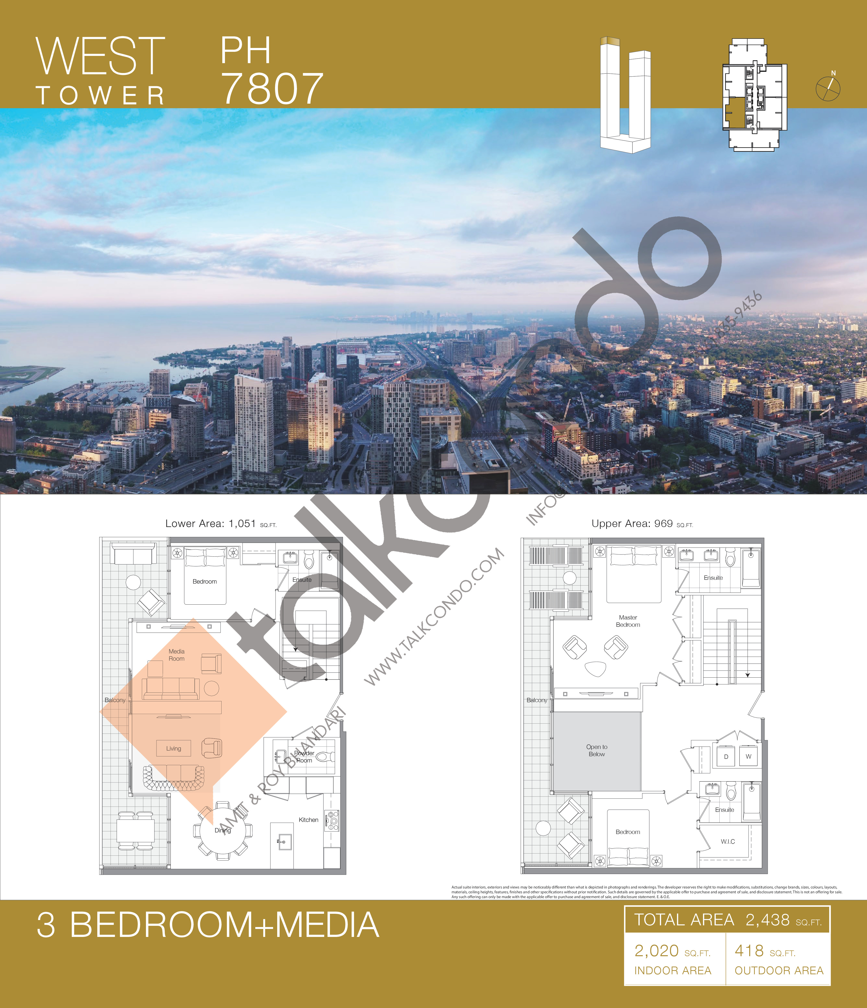 PH 7807 Floor Plan at Concord Canada House Condos - 2020 sq.ft