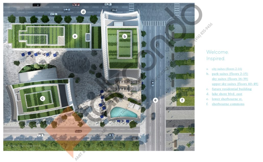 site map for lakeside residences