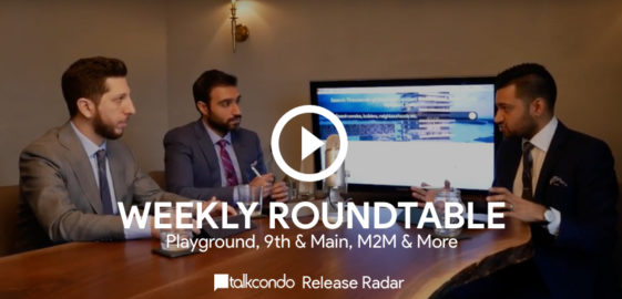 Amit Bhandari Mike Santos and Roy Bhandari discuss the latest new condos around a roundtable